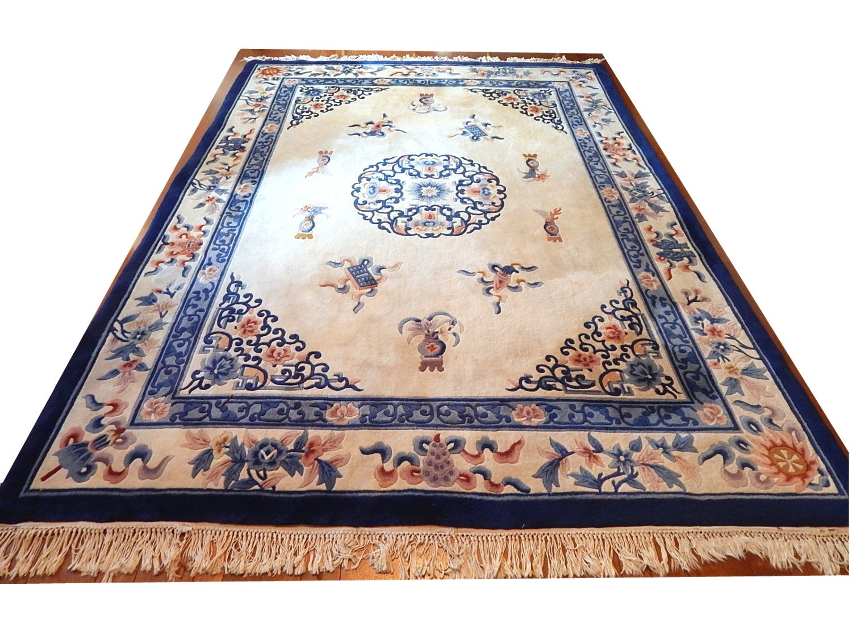 Chinese Peking Style Tufted Wool Area Rug