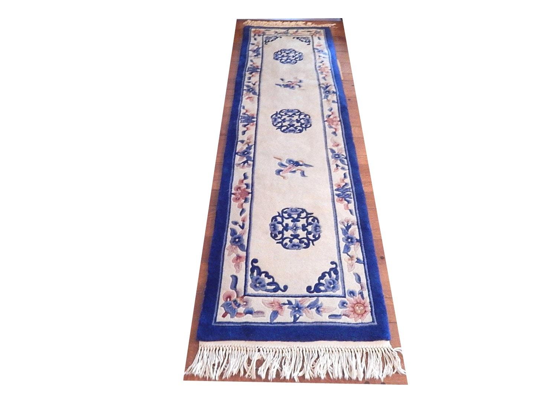 Chinese Peking Style Tufted Wool Carpet Runner