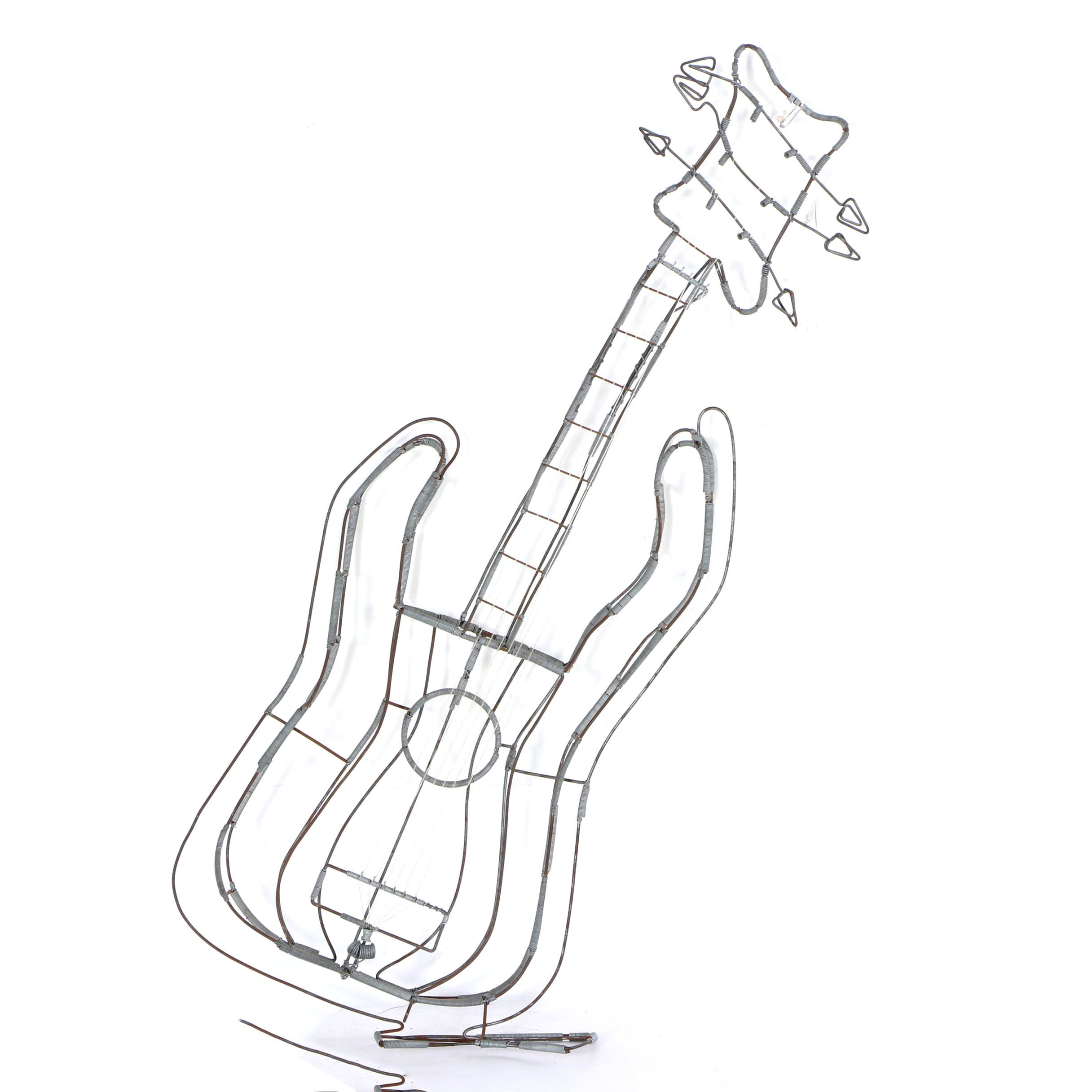 wire and spring sculpture of a guitar ebth Carvin Electric Guitar wire and spring sculpture of a guitar