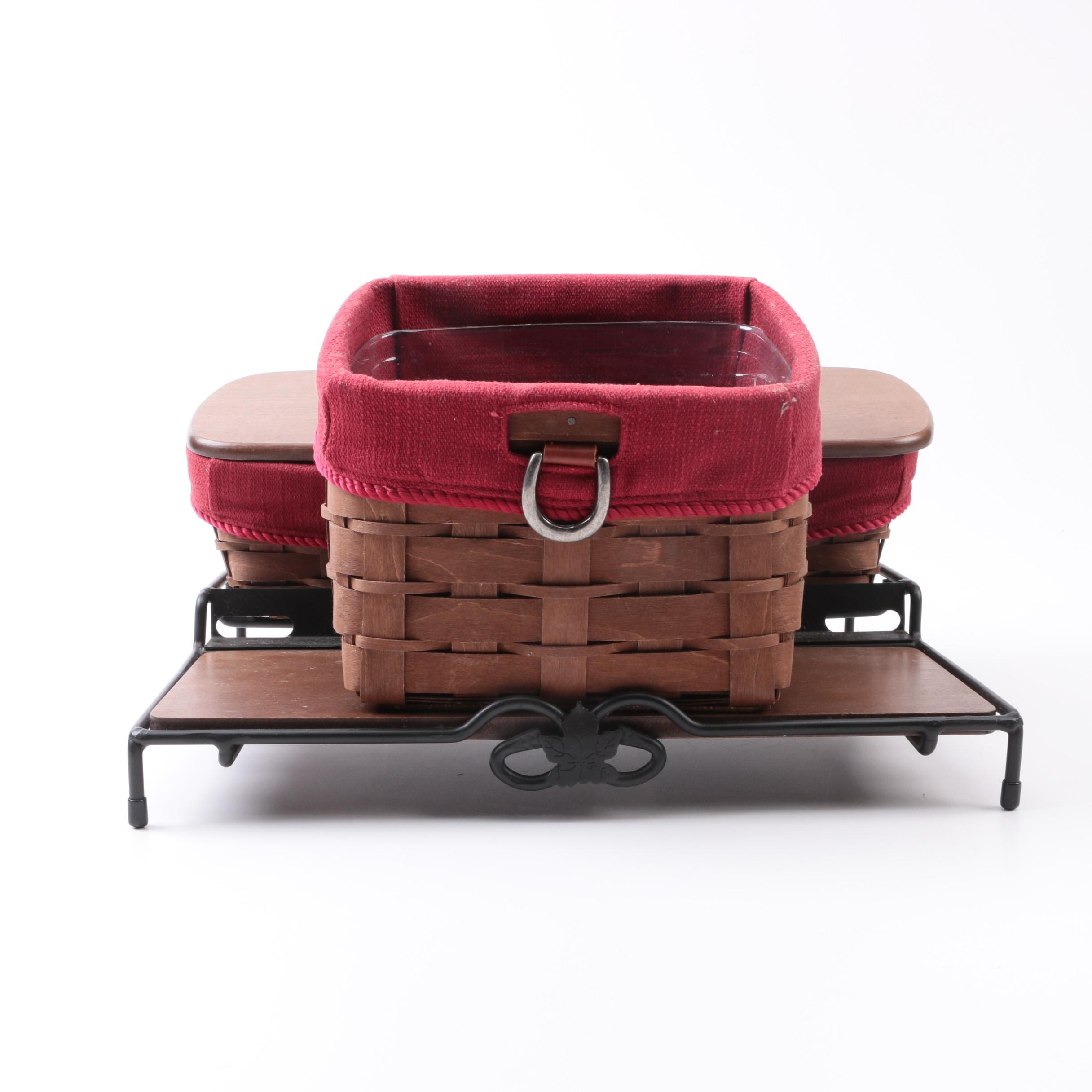 Longaberger Baskets and Stand