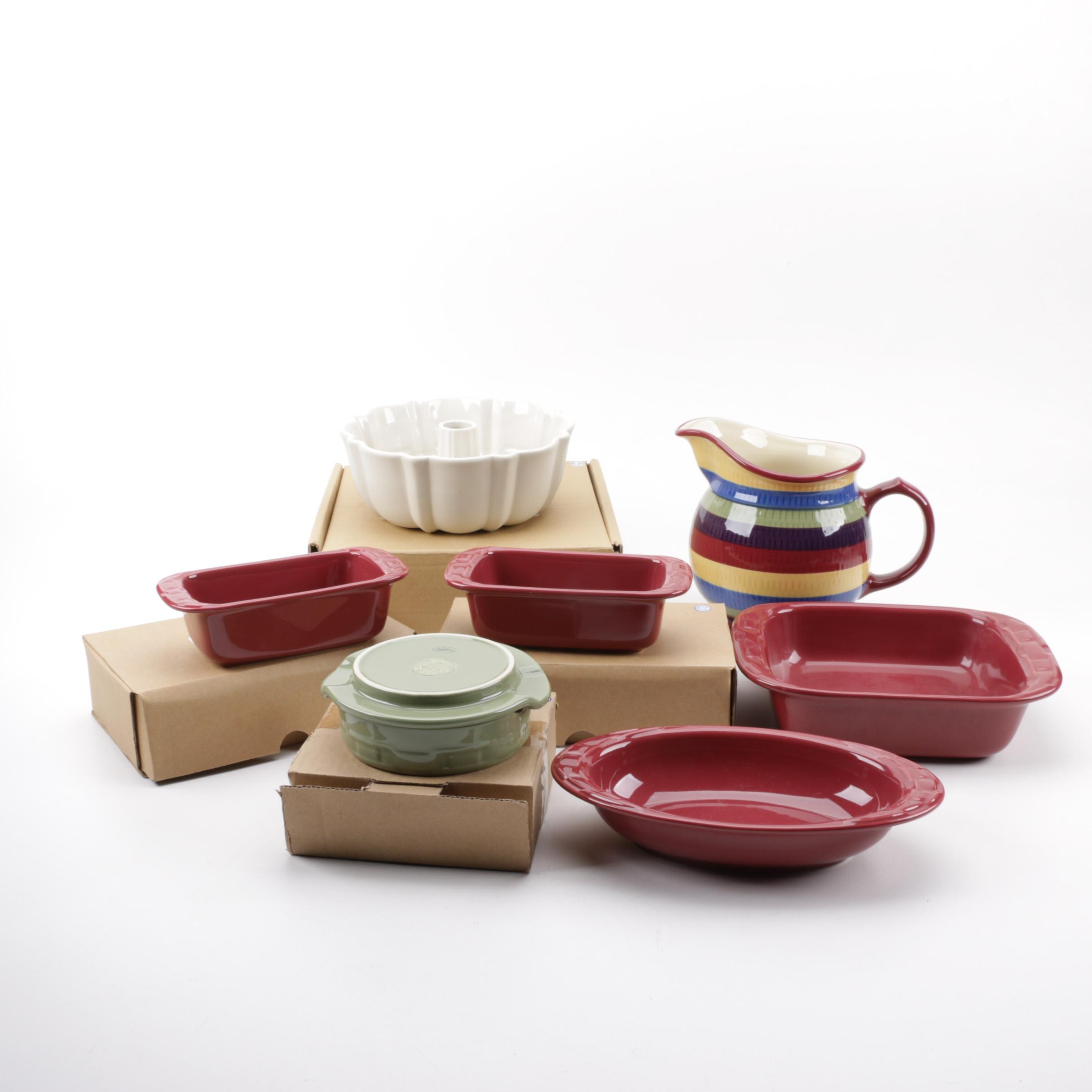 """Longaberger """"Woven Traditions"""" Pottery"""
