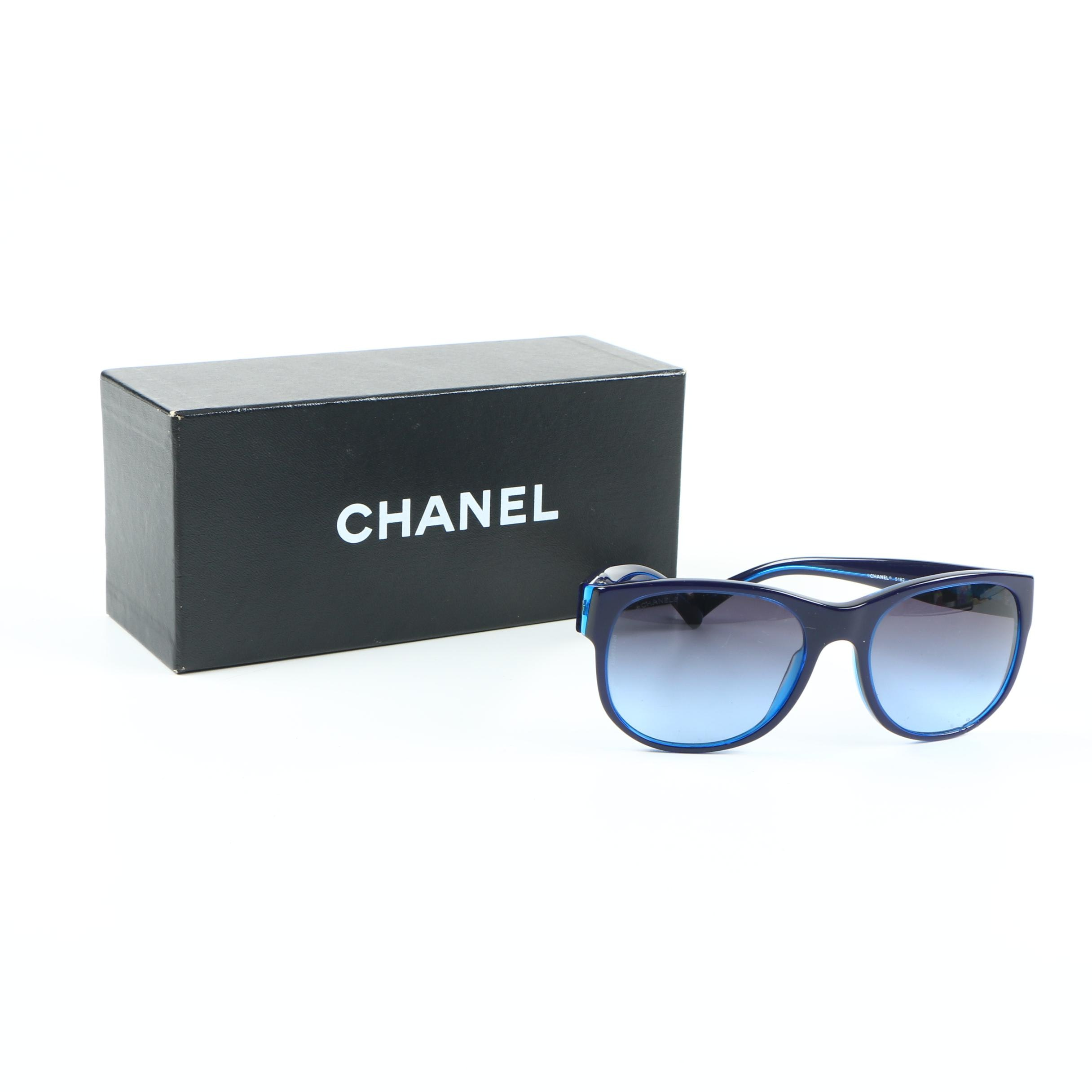 Chanel 5182 CC Logo Sunglasses with Case and Box