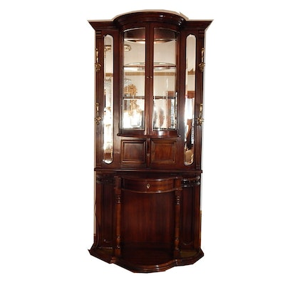 Cherry Hall Tree Display Cabinet - Online Furniture Auctions Vintage Furniture Auction Antique