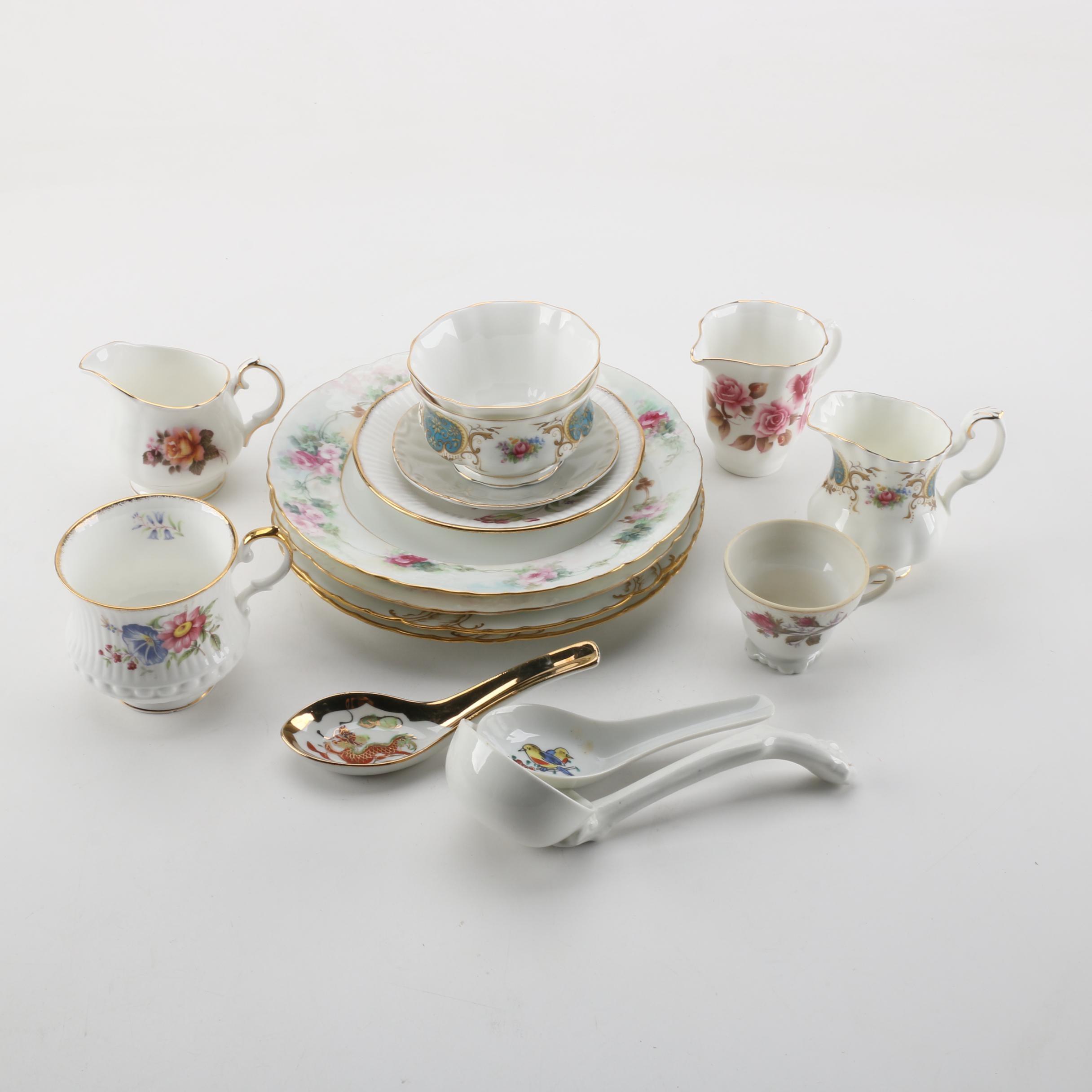 Porcelain Tableware Including Royal Albert and Royal Grafton