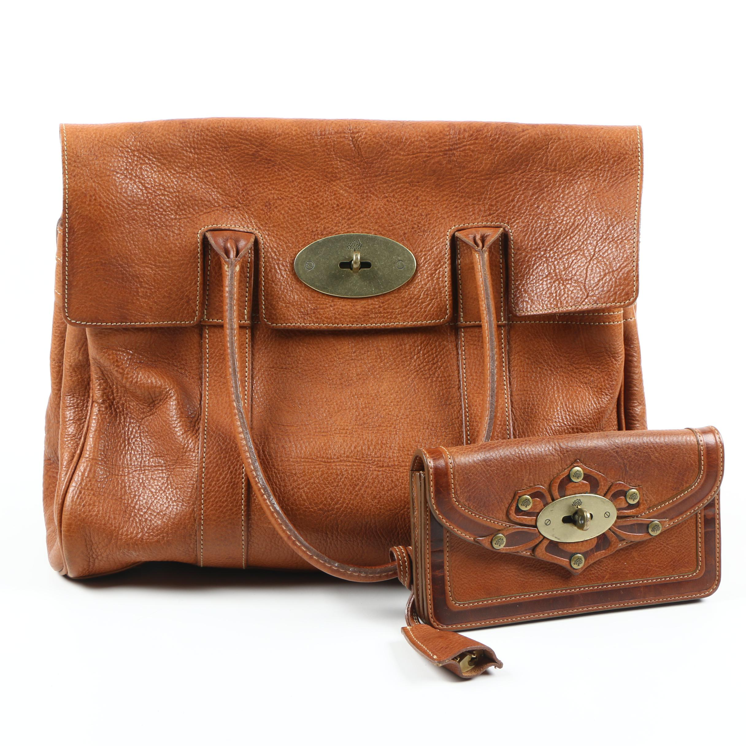 b64f8e65dd ... handbag 2017 075d8 45422  shopping mulberry leather tote and wallet  1f8be 822bc