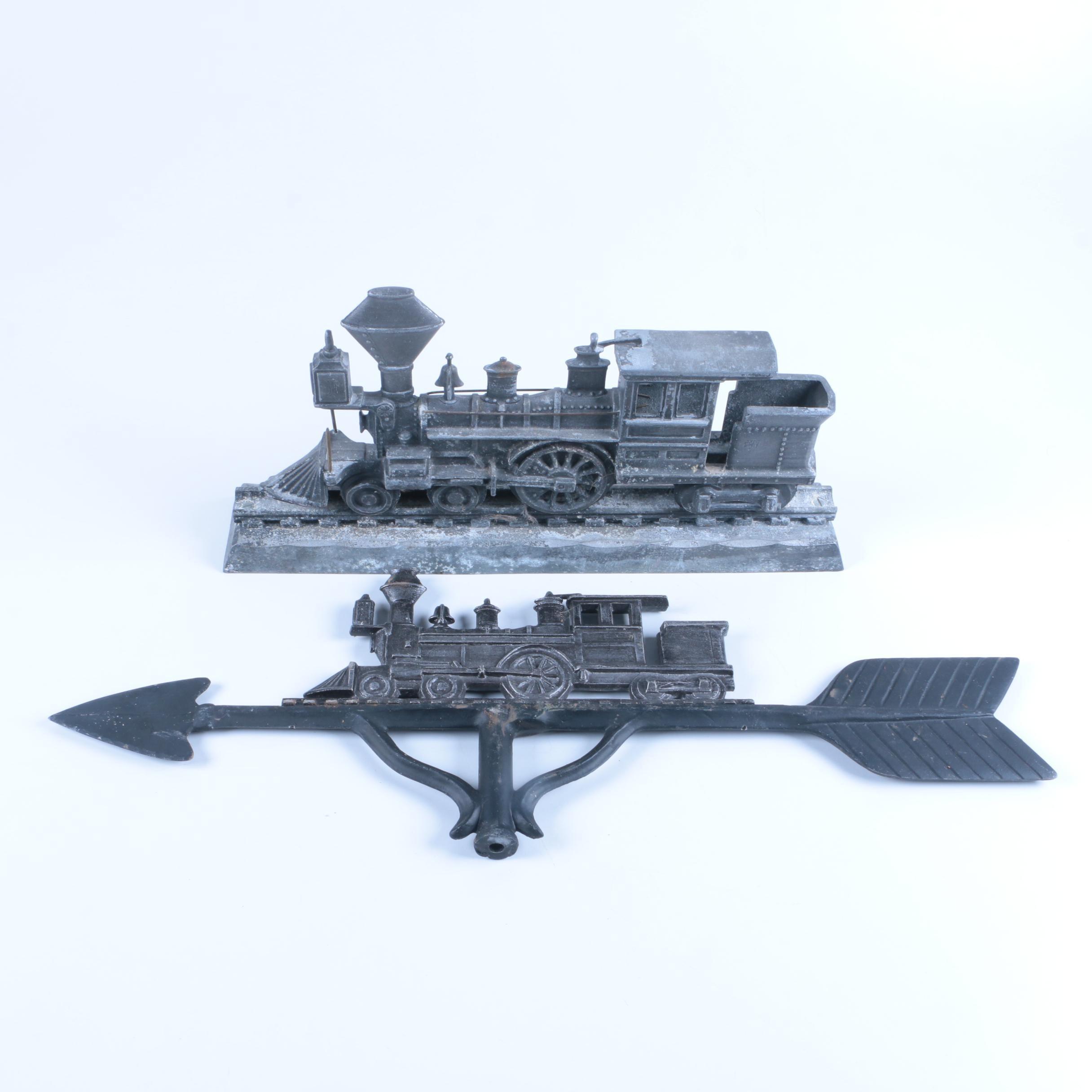 Cast Iron Train Engine Weathervane and Casting