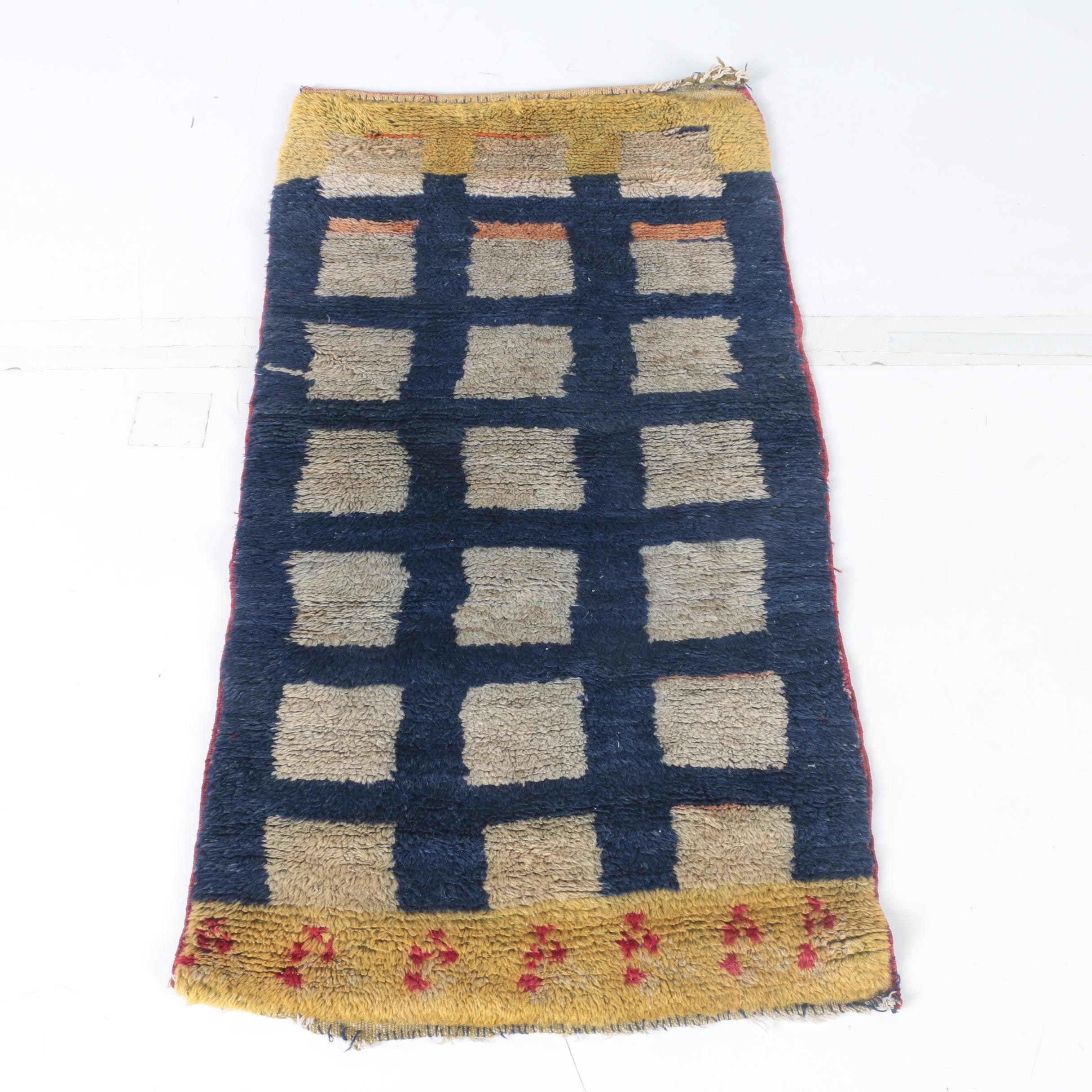 Hand-Knotted Tulu Wool Accent Rug