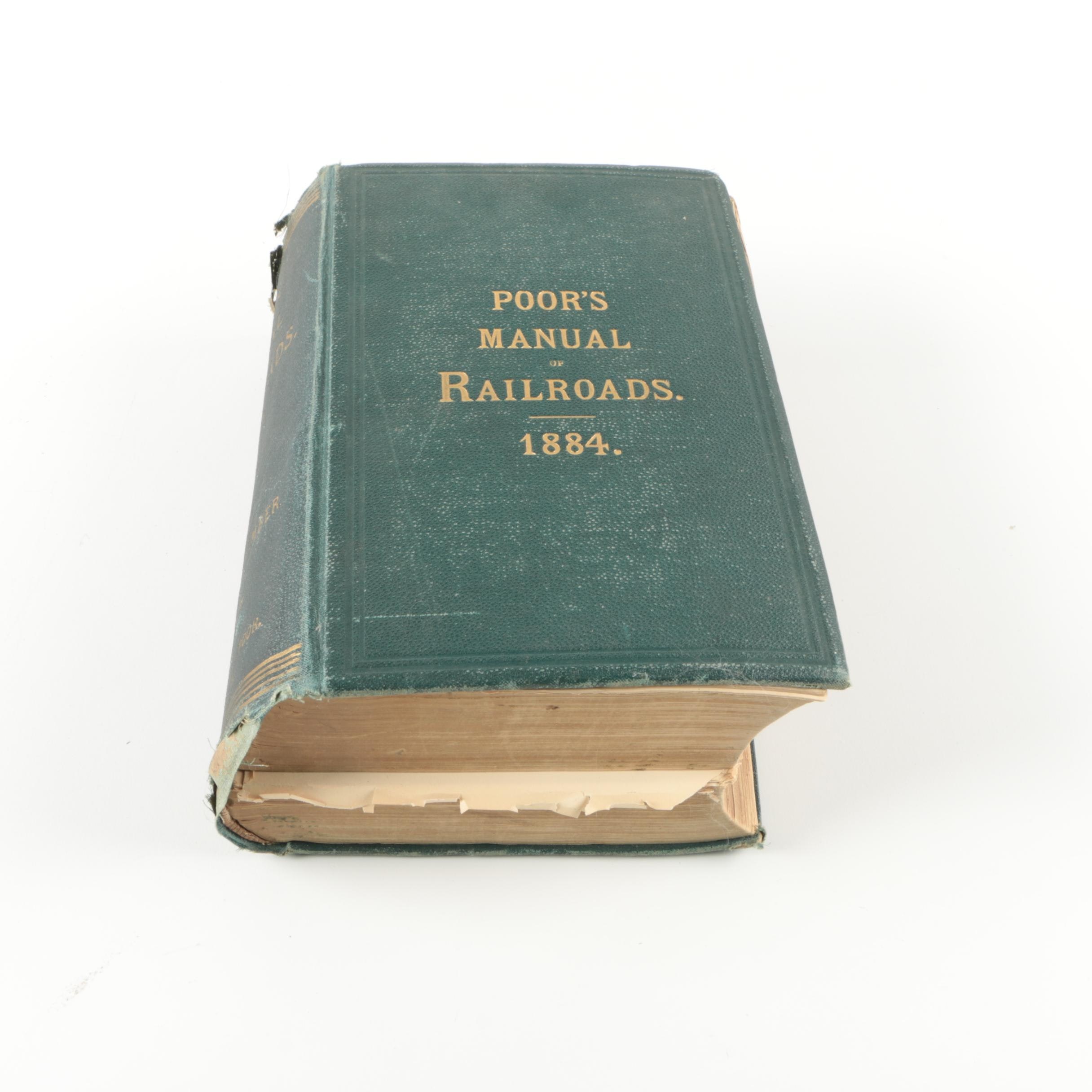 "1884 ""Poor's Manual of the Railroads of the United States"""