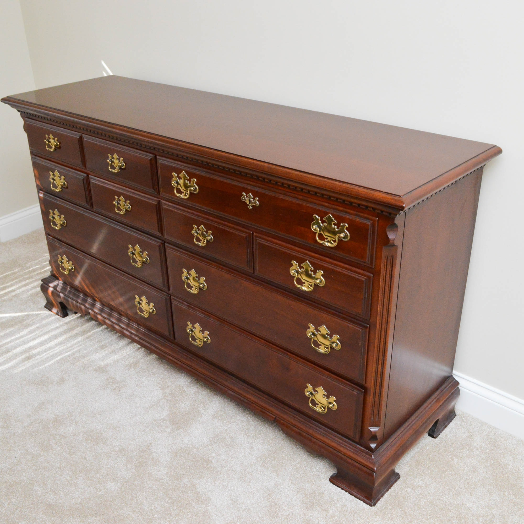 Chippendale Style Low Chest of Drawers by Lexington