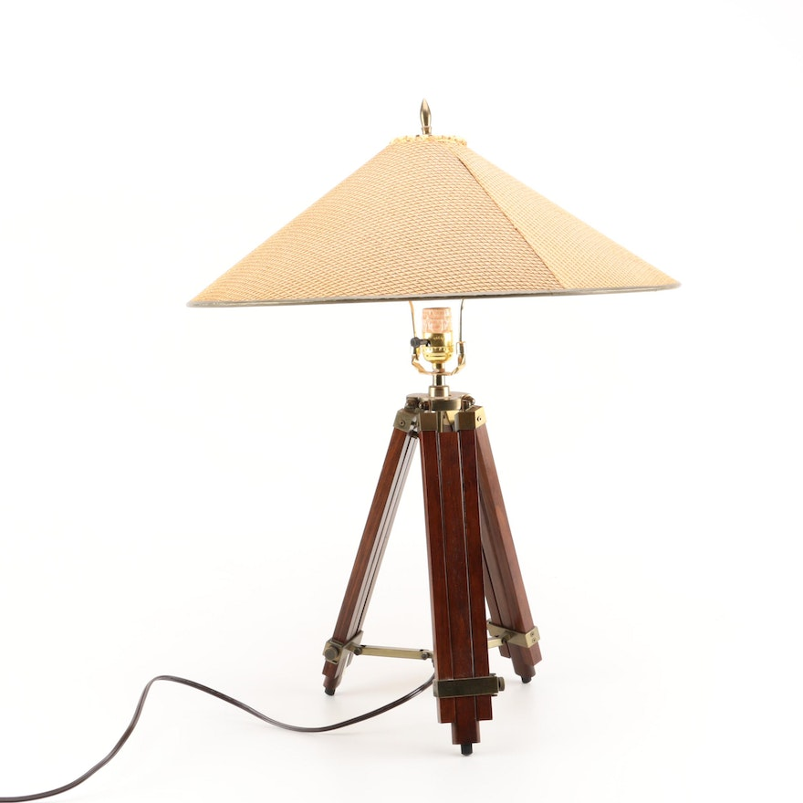 Nautical themed tripod table lamp with shade ebth nautical themed tripod table lamp with shade aloadofball Images