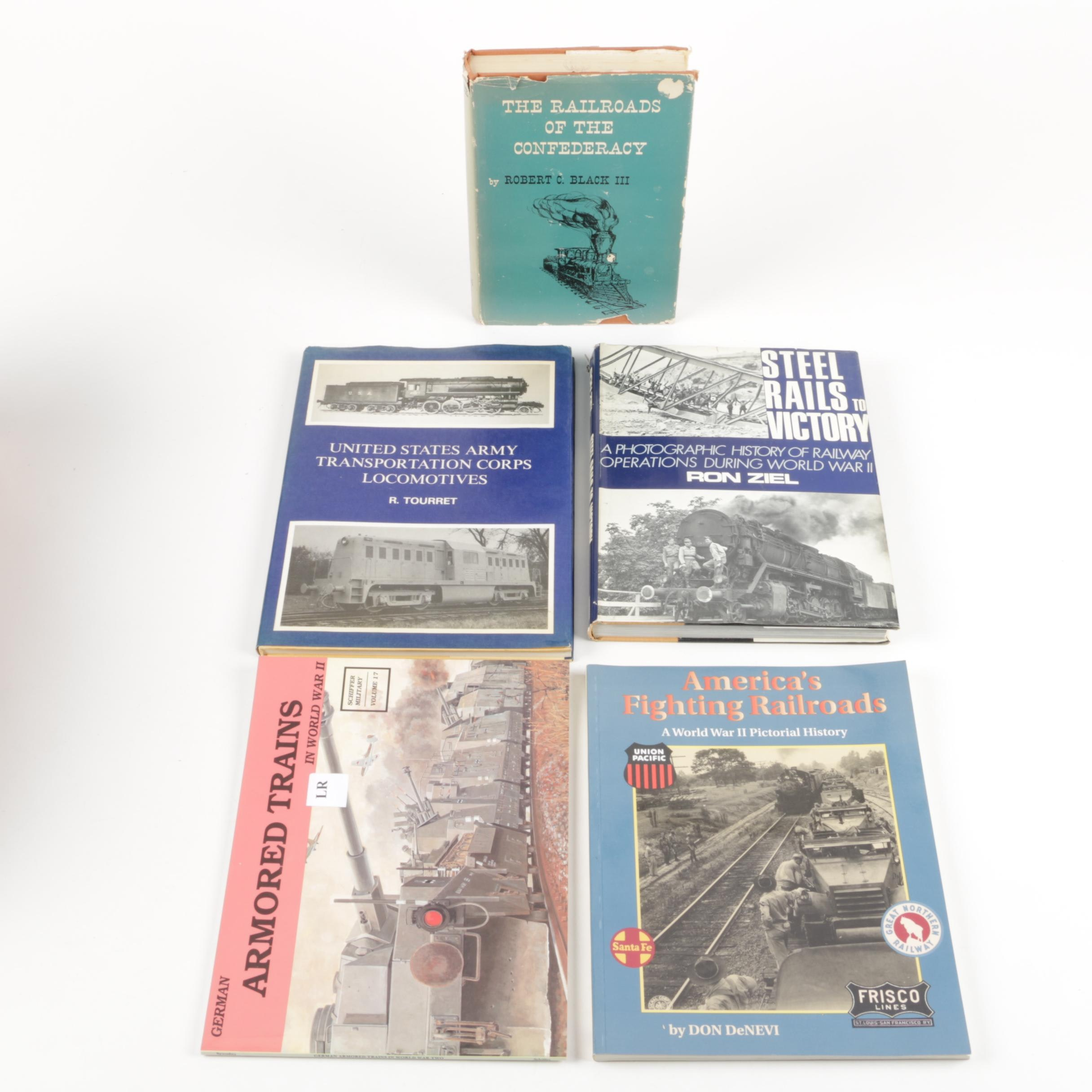 Assorted Vintage Books on Trains