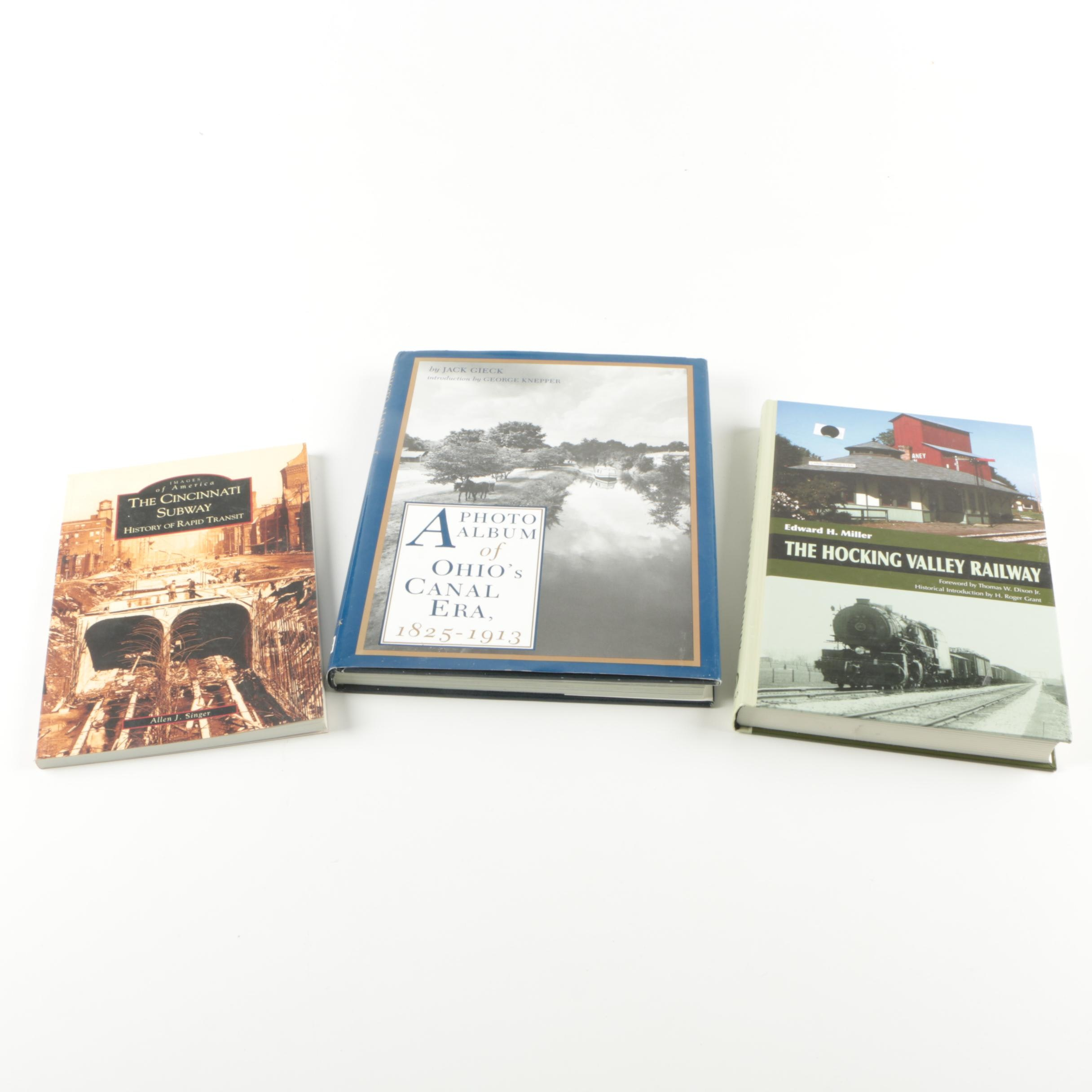 "Assorted Books on Ohio Transportation including Signed ""The Cincinnati Subway"""