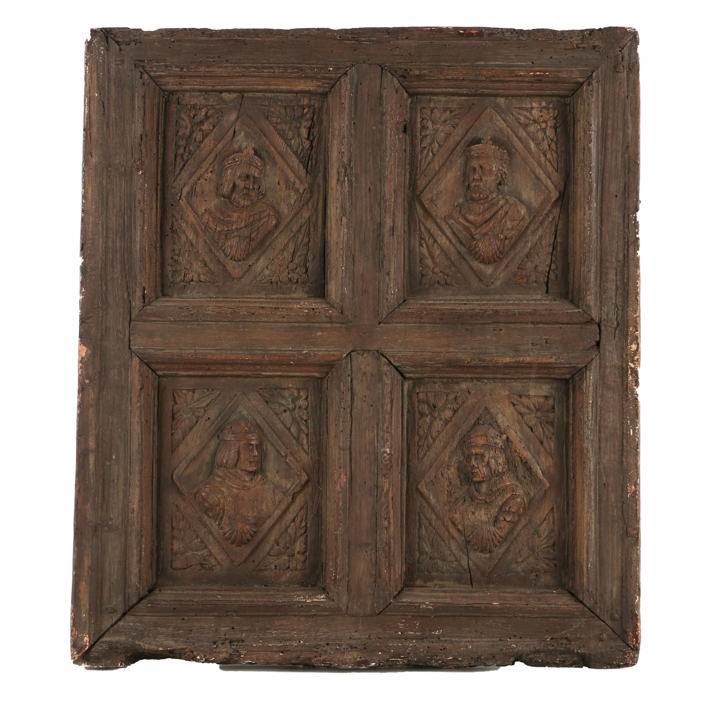 Reproduction Door Panel with Historical Figures