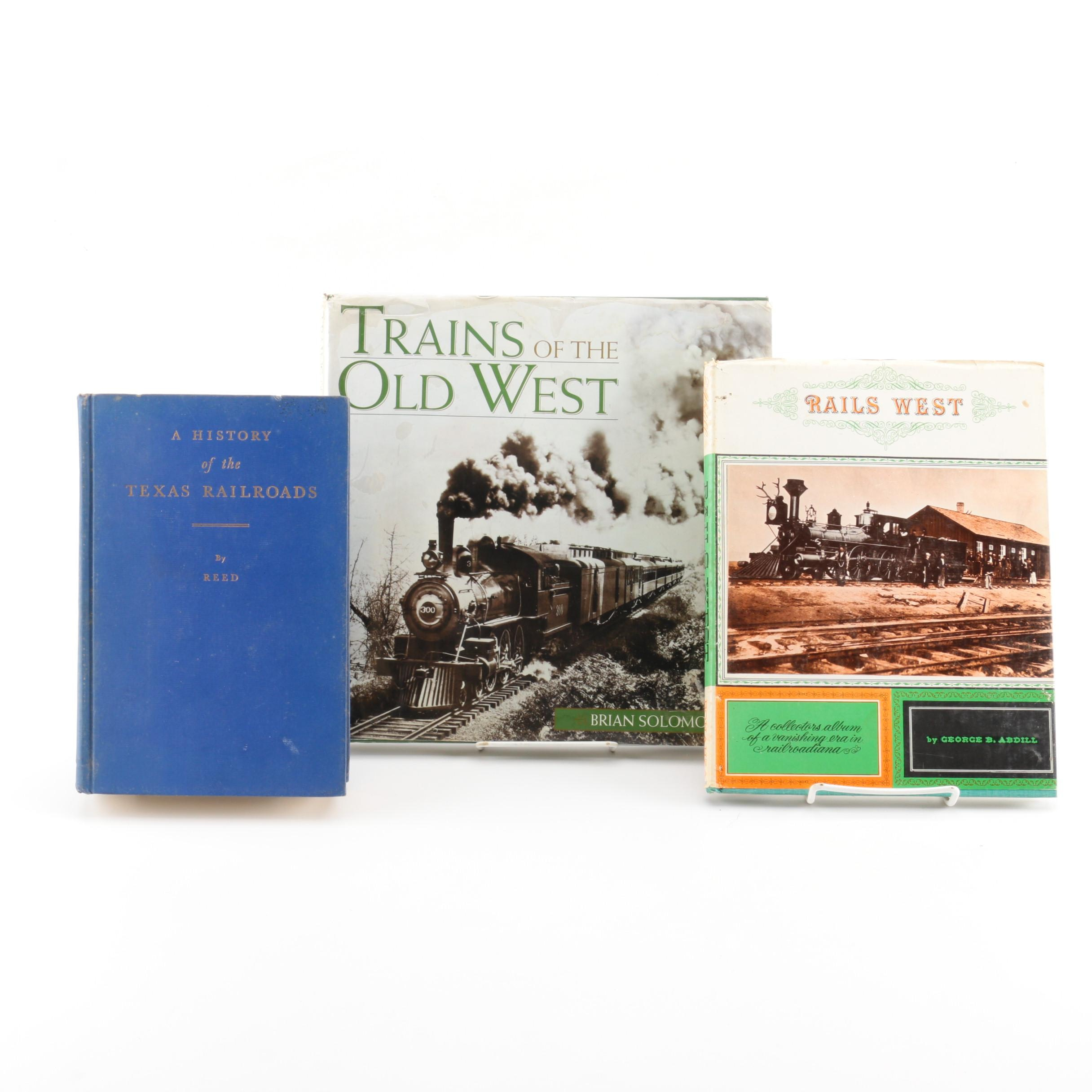 Assorted Hardcover Books on Western Railroads