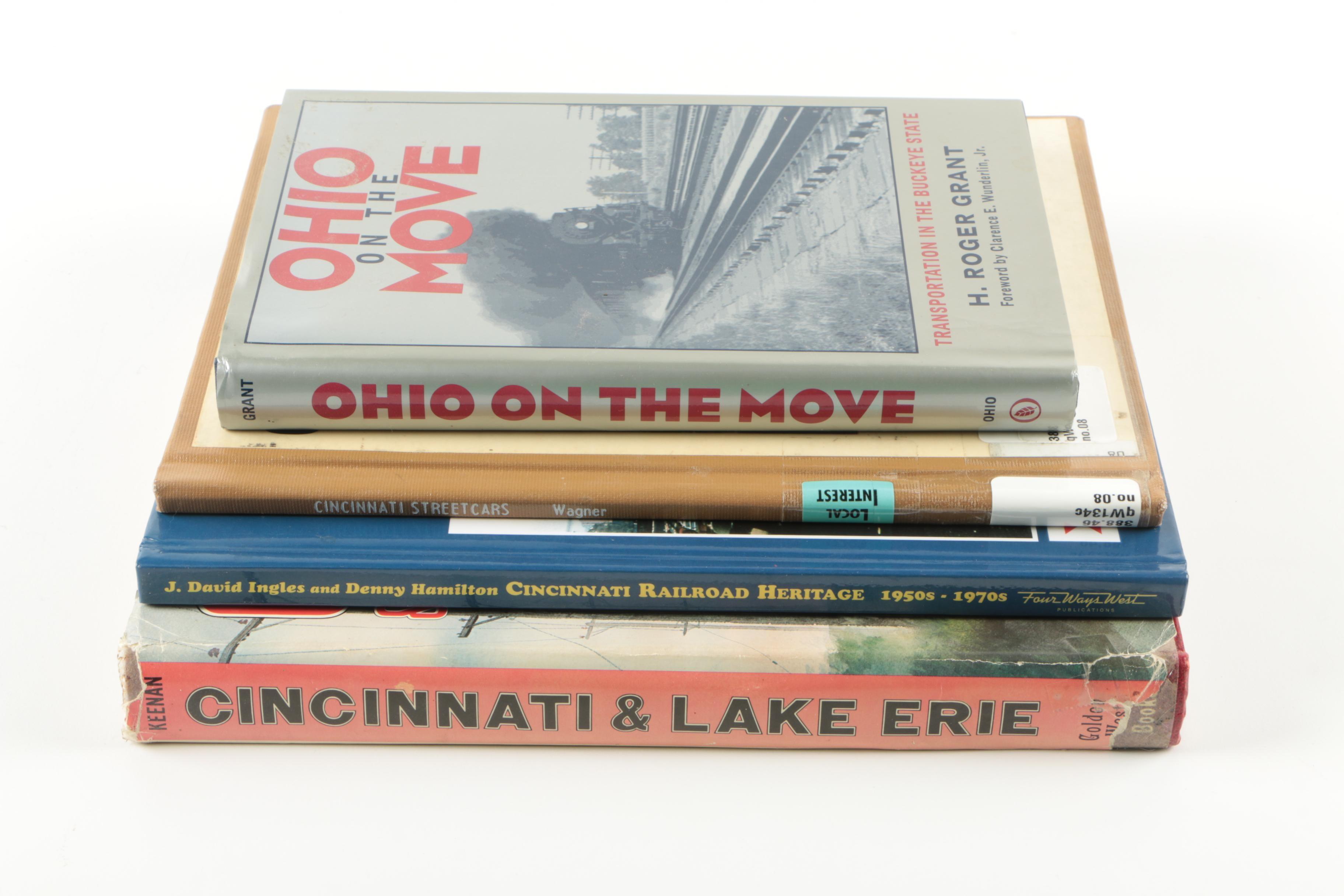 Assorted Books on Cincinnati and Ohio Transportation History