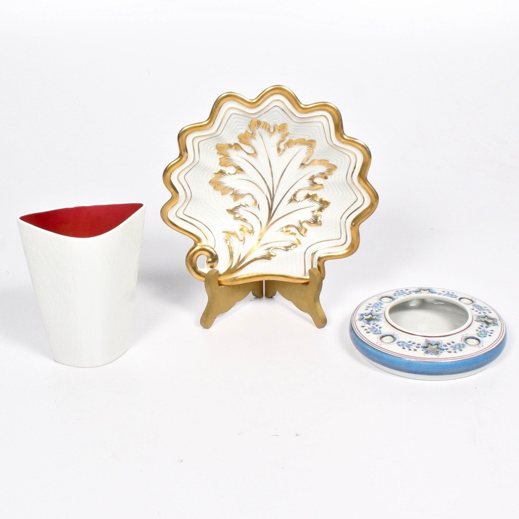 Vintage European Pottery and Porcelain Grouping Featuring Rosenthal
