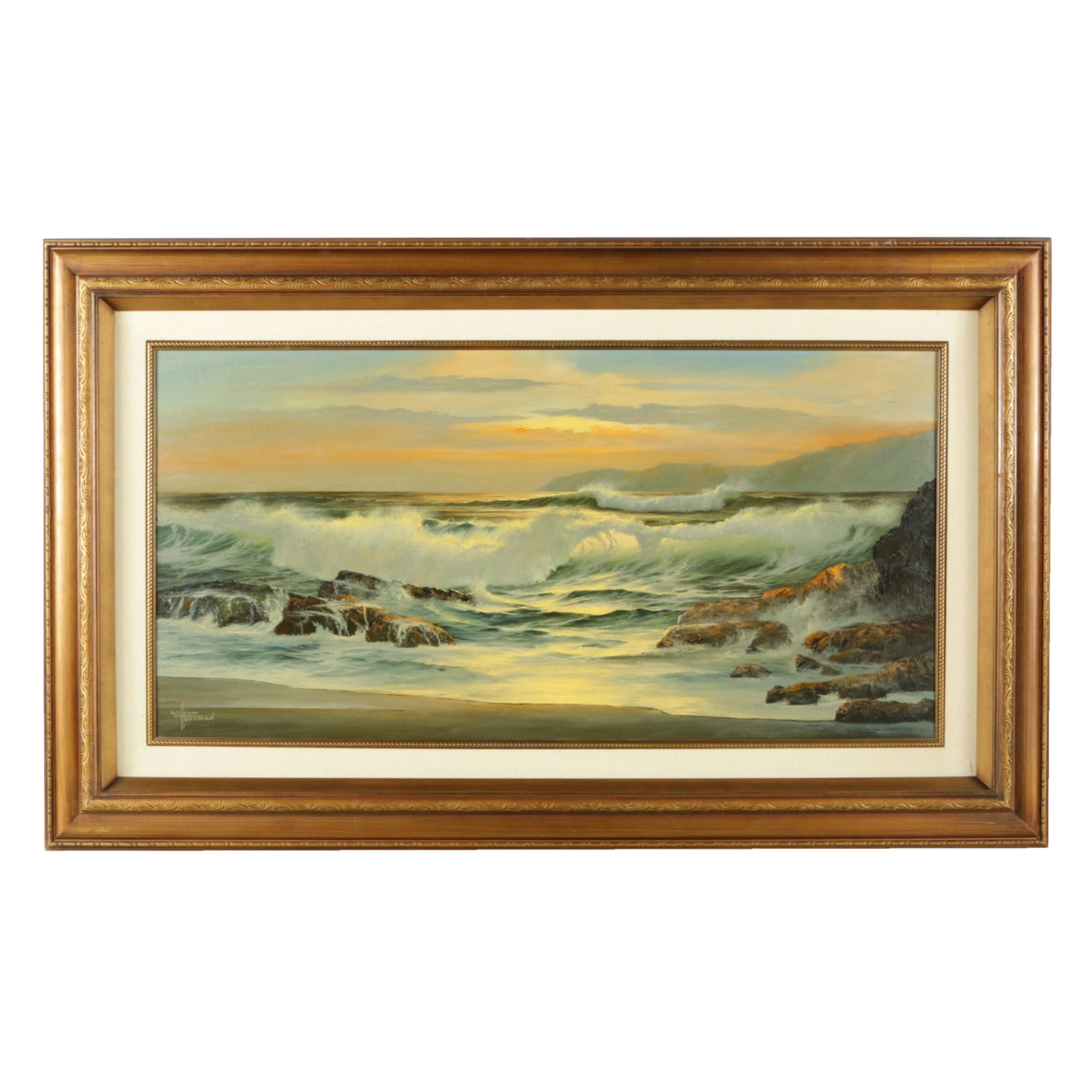 William Hoffman Oil on Canvas Seascape Painting