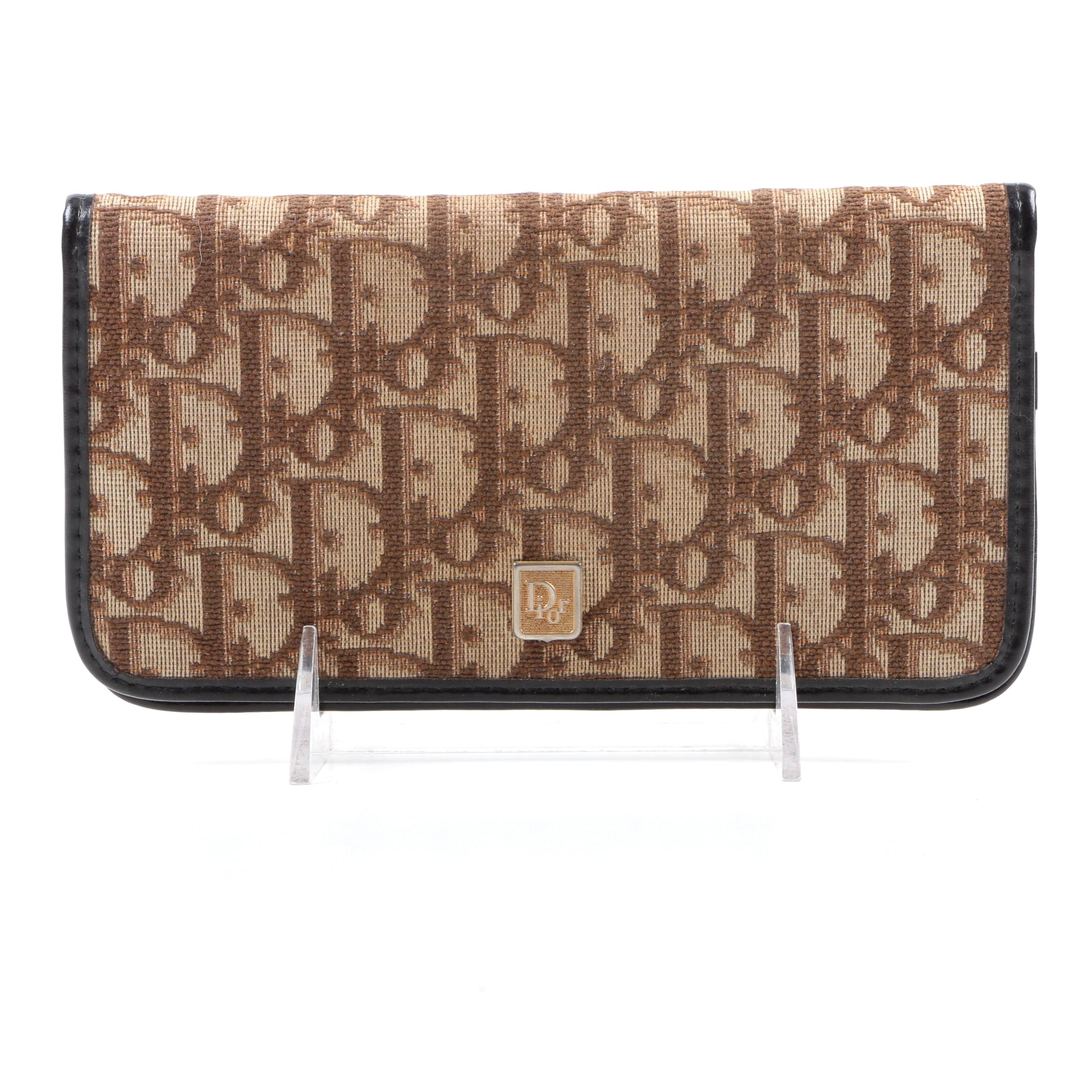 Christian Dior Monogram Canvas and Leather Checkbook Cover