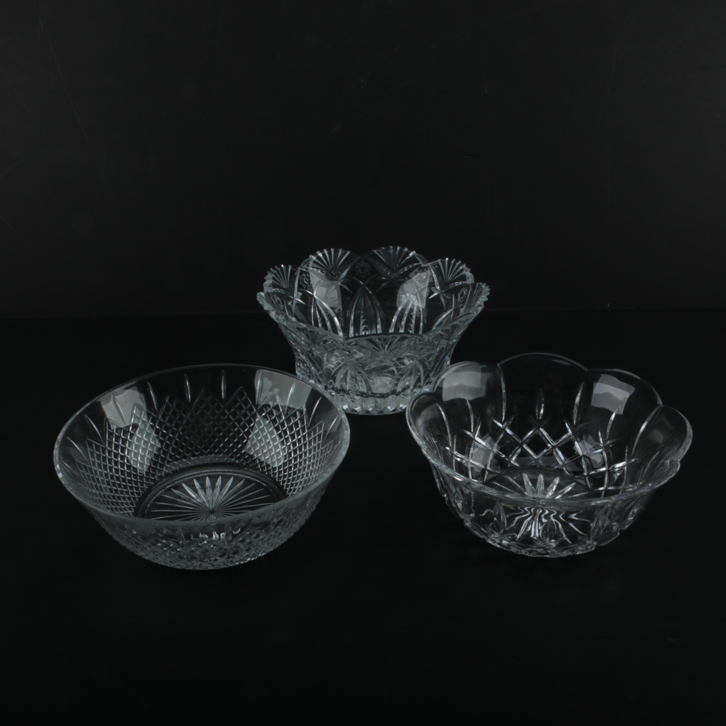 Cut Glass and Crystal Bowls
