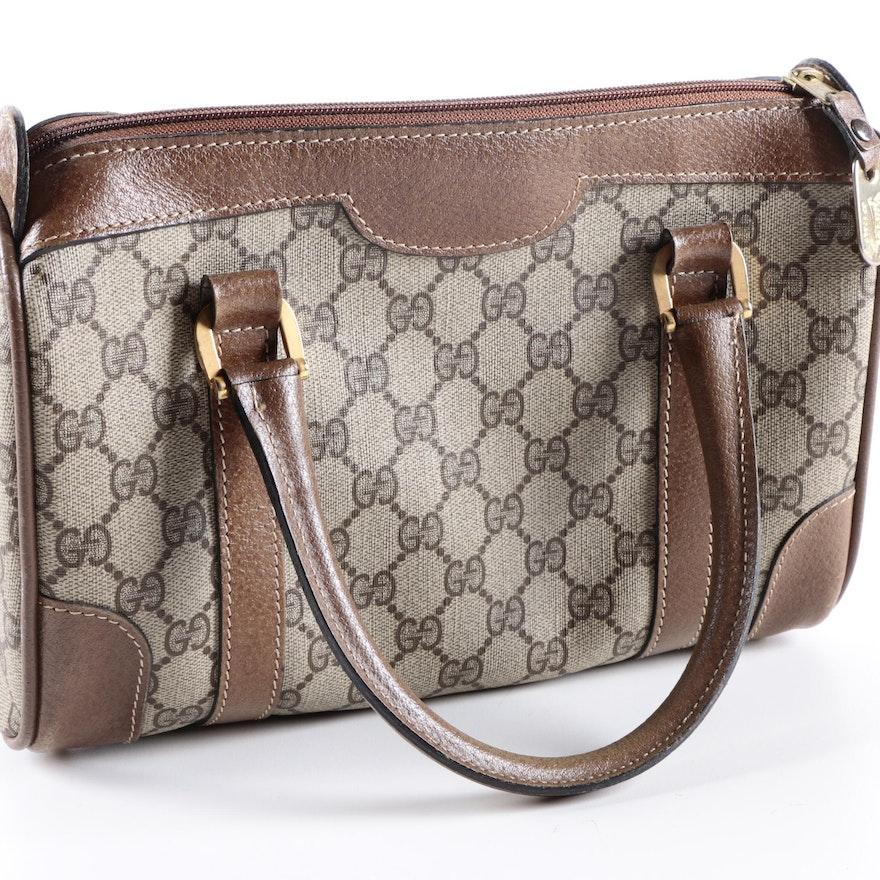 61ca0a901e9 Vintage Gucci GG Canvas Handbag : EBTH
