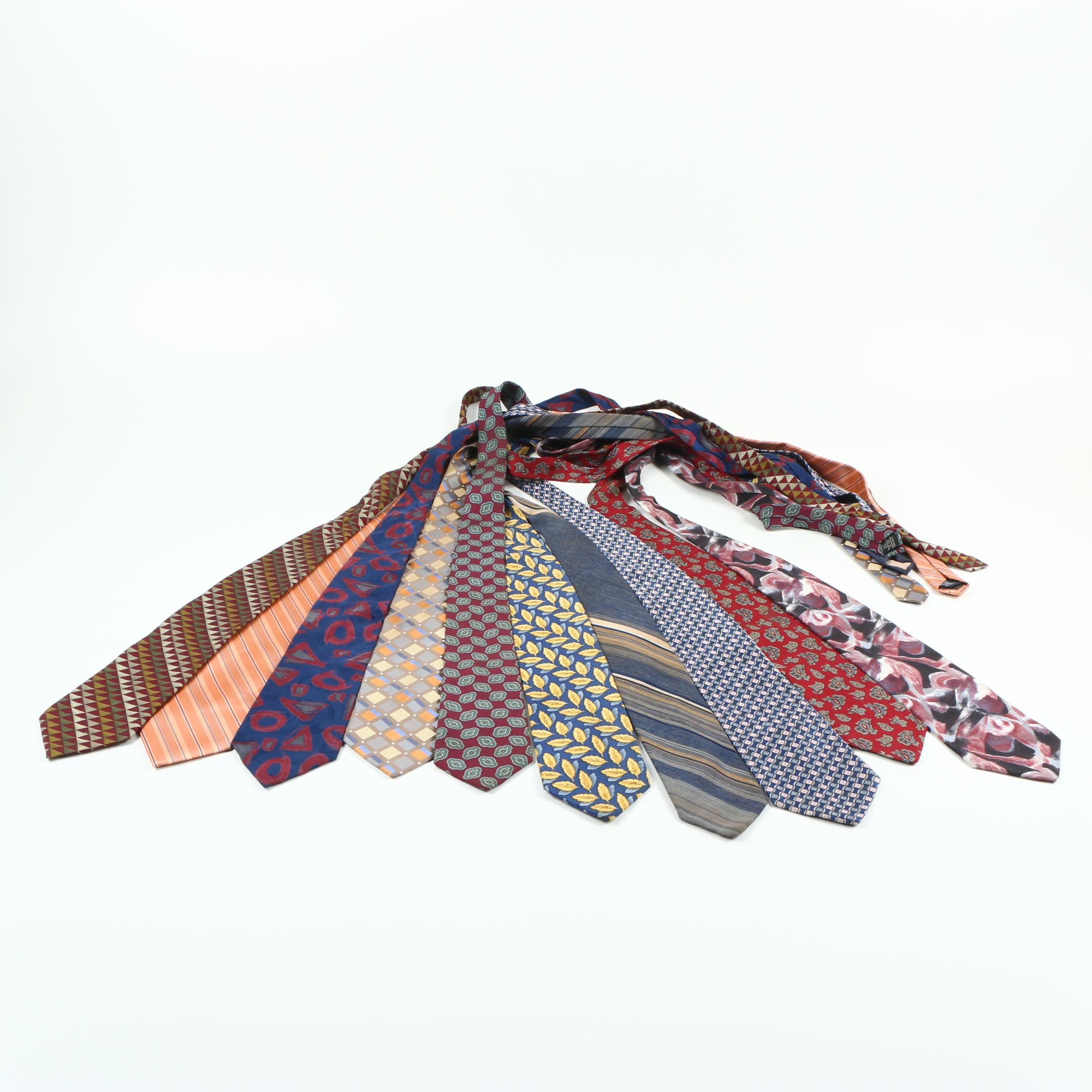 Men's Neckties Including Gant and Nautica
