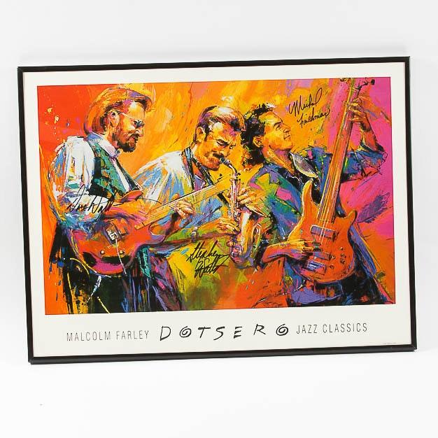 "Autographed ""Dotsero"" Jazz Poster"