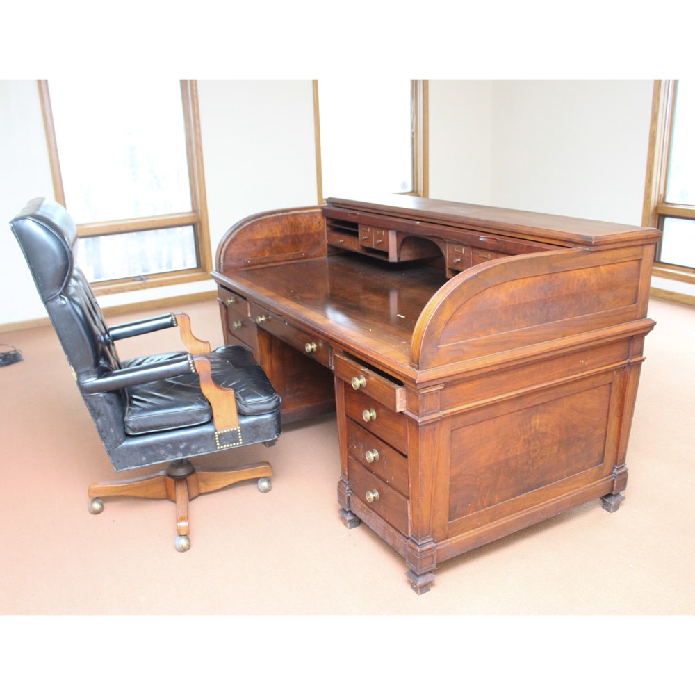 Vintage Dontn-Dunten Desk Rolltop Executive Desk