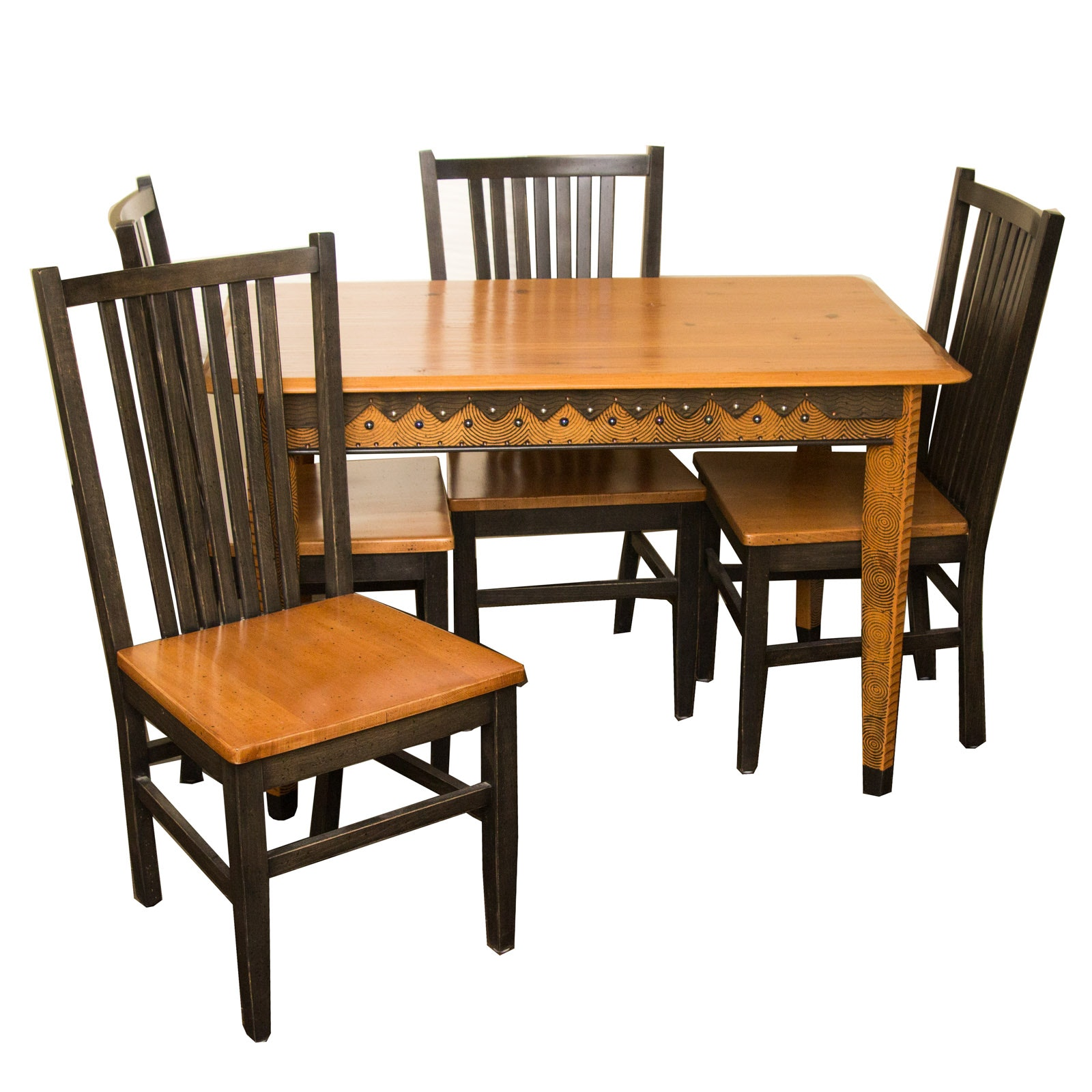 Decorative Dining Table and Chairs