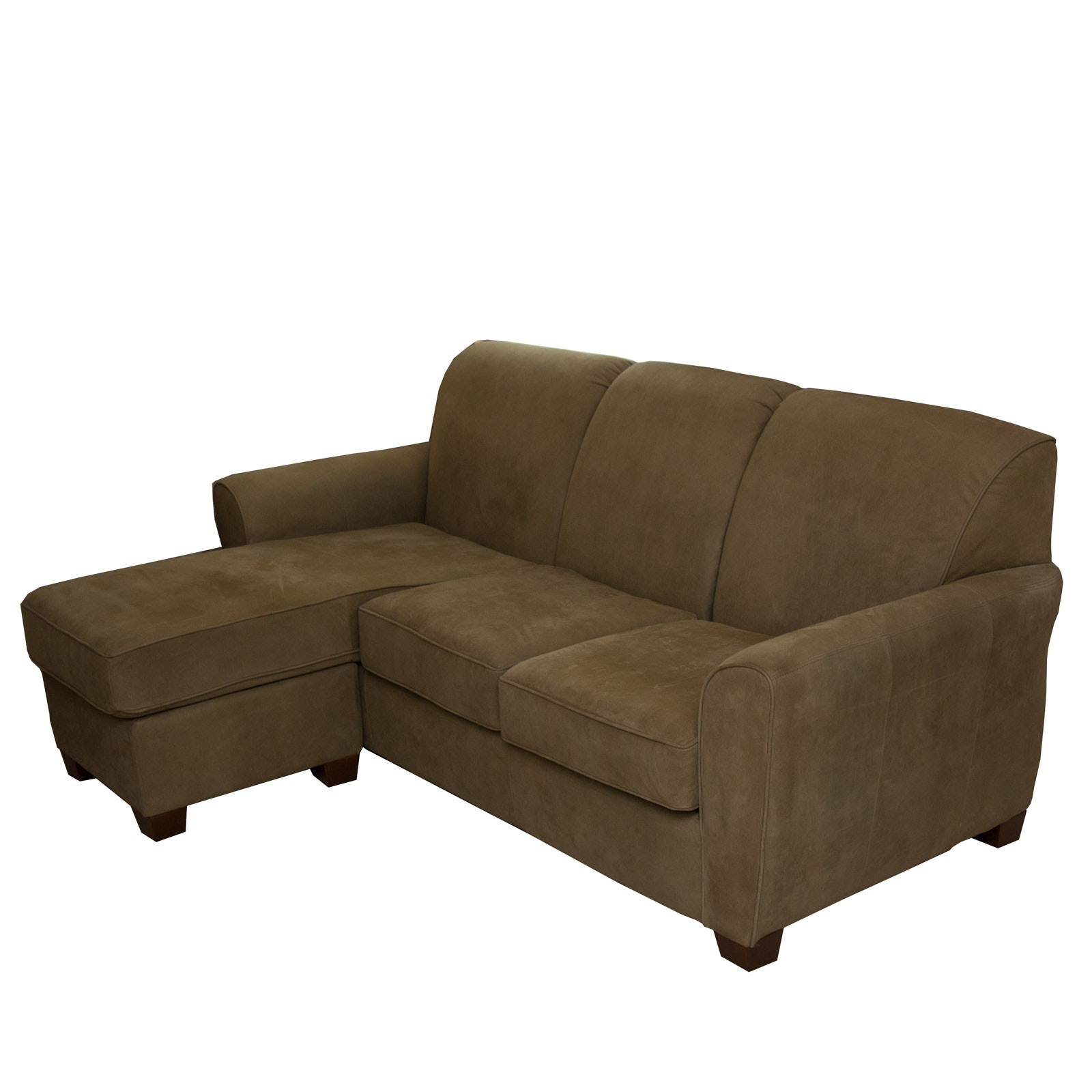 L-Shaped Beige Sectional Sofa