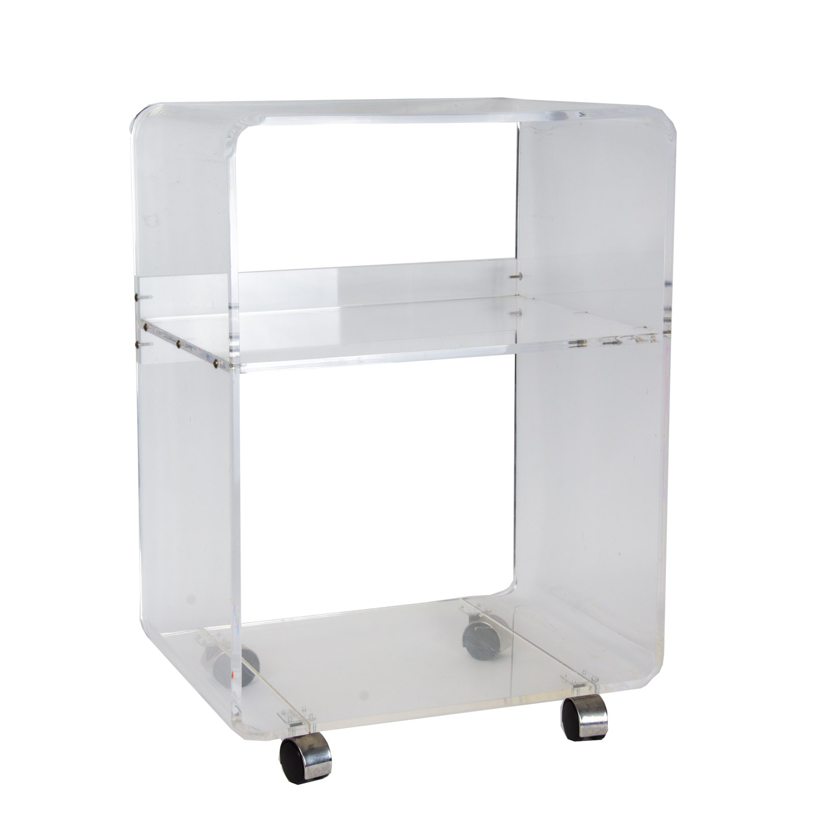 Clear Acrylic Storage Unit on Wheels