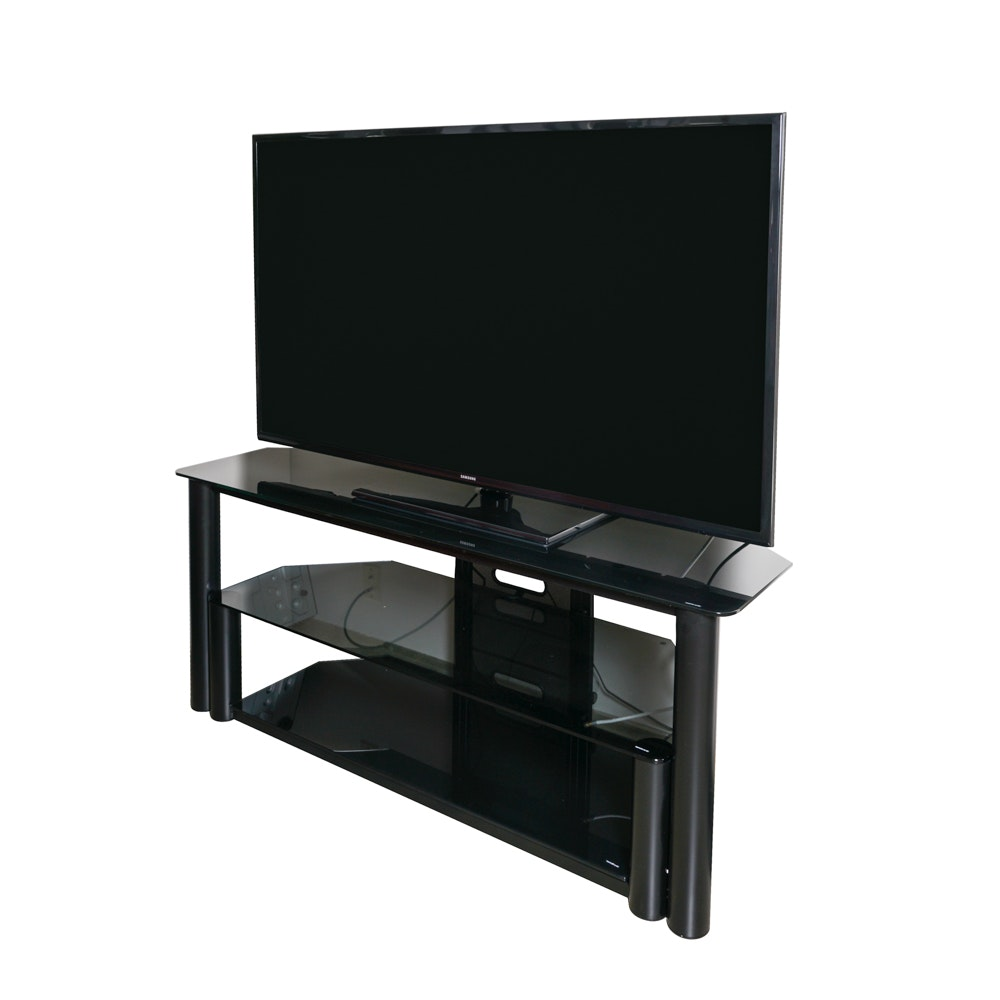 "Samsung 36"" Television with Tempered Glass And Metal Media Stand"