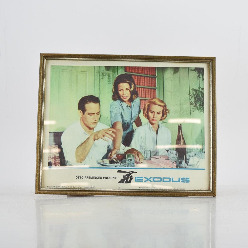 """1961 NSS Film Lobby Card for Otto Preminger's """"Exodus"""""""