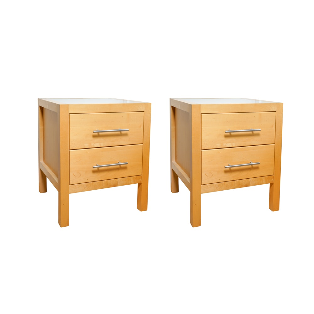 Pair of Contemporary Nightstands by Copeland Furniture