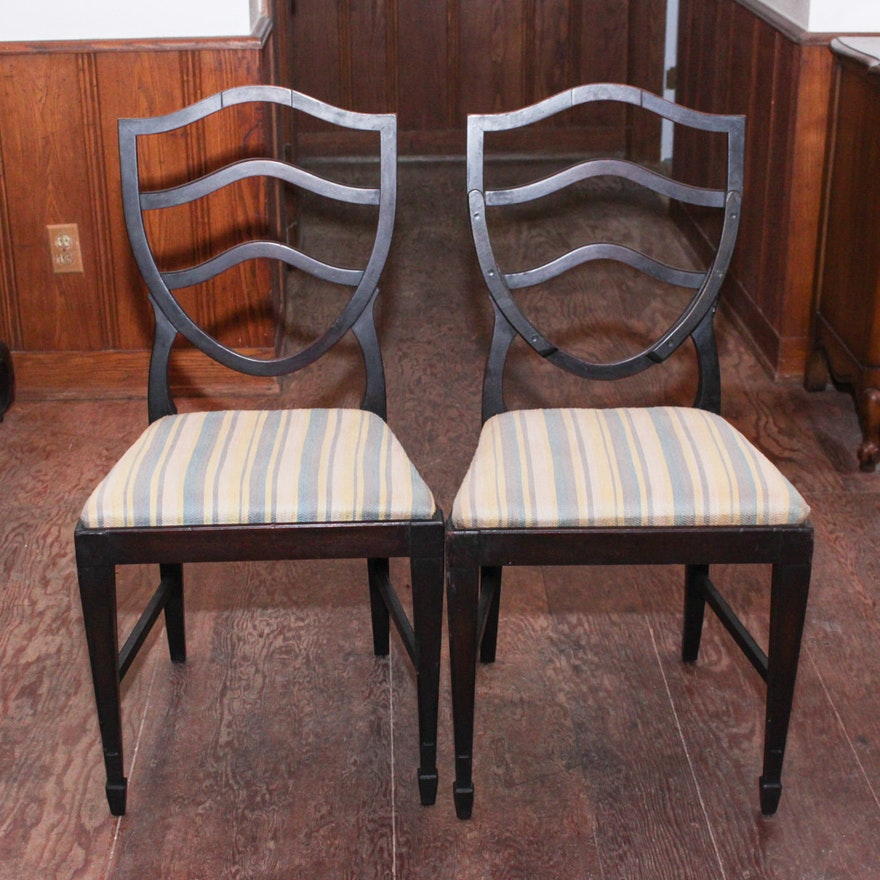 Antique Shield Back Chairs ... - Antique Shield Back Chairs : EBTH