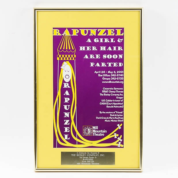 Poster for the Mill Mountain Theatre's Production of Rapunzel