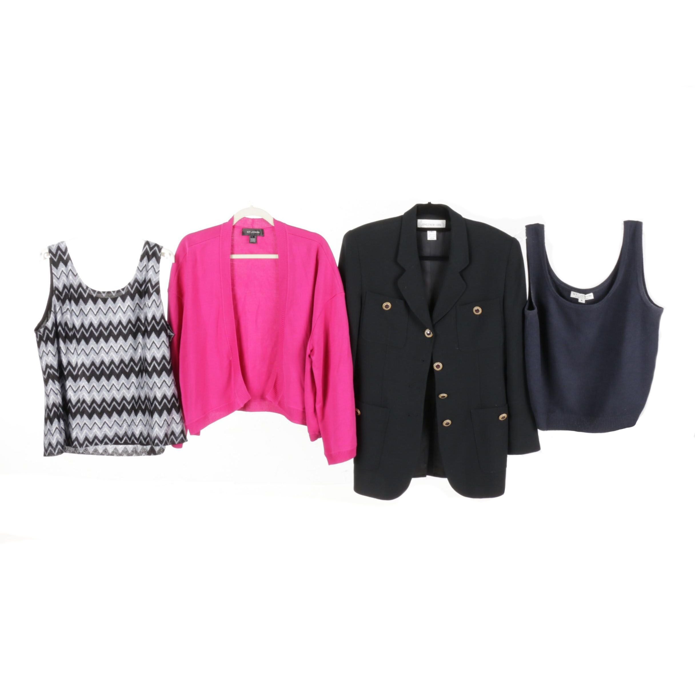 St. John Brand and Jones New York Tops and Outerwear