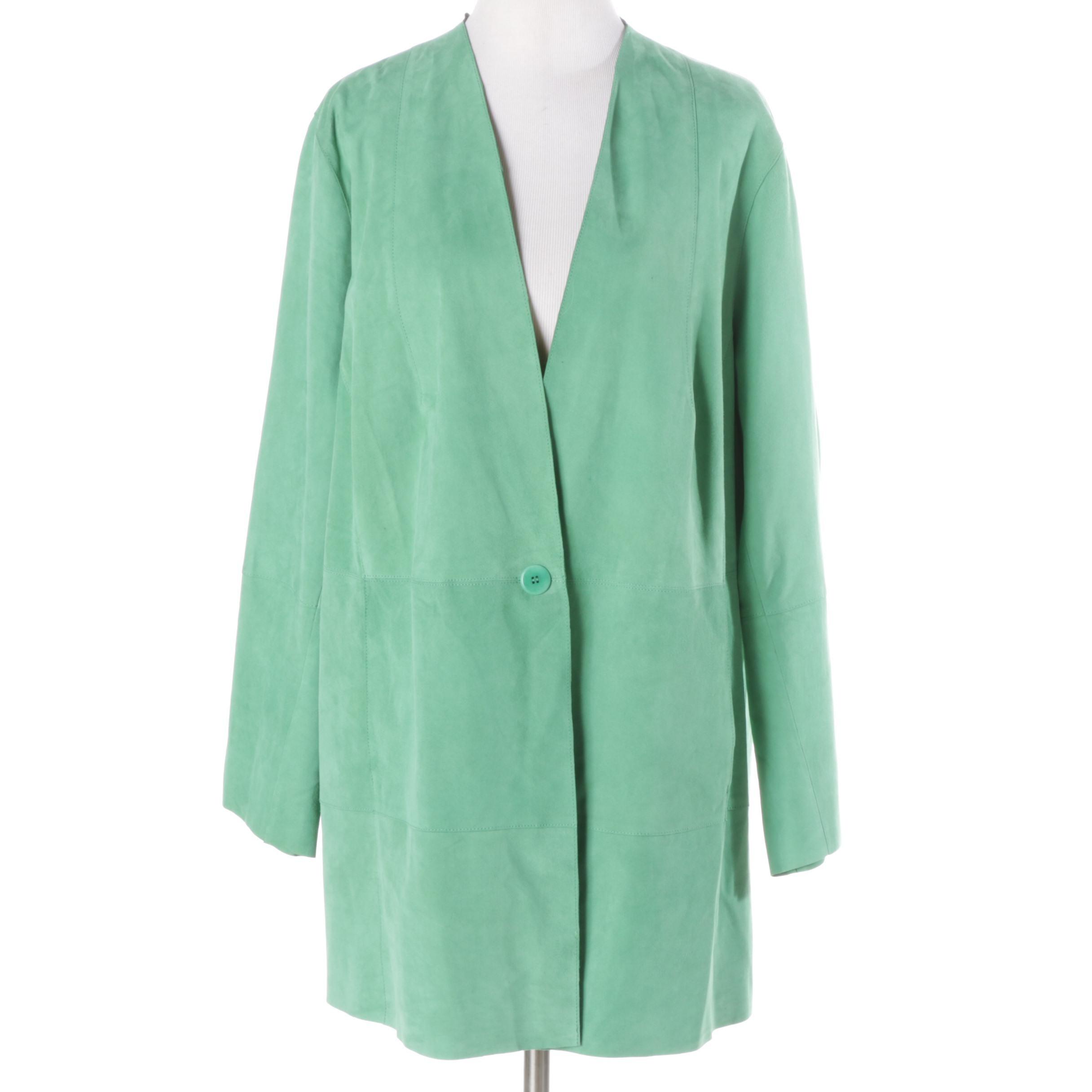Women's Green Suede Jacket