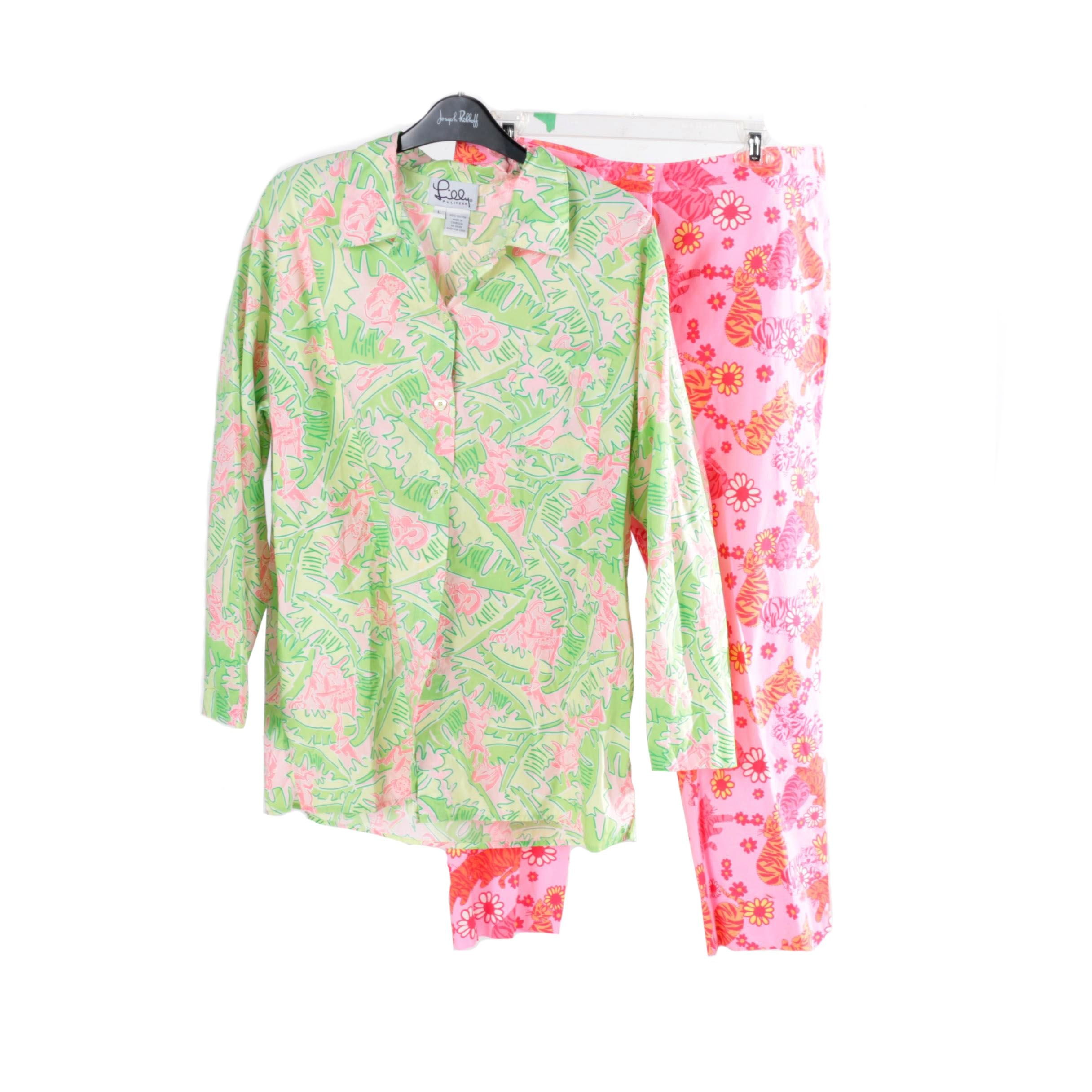 """Lilly Pulitzer """"Musical Monkeys"""" and """"Tango Tigers"""" Separates"""