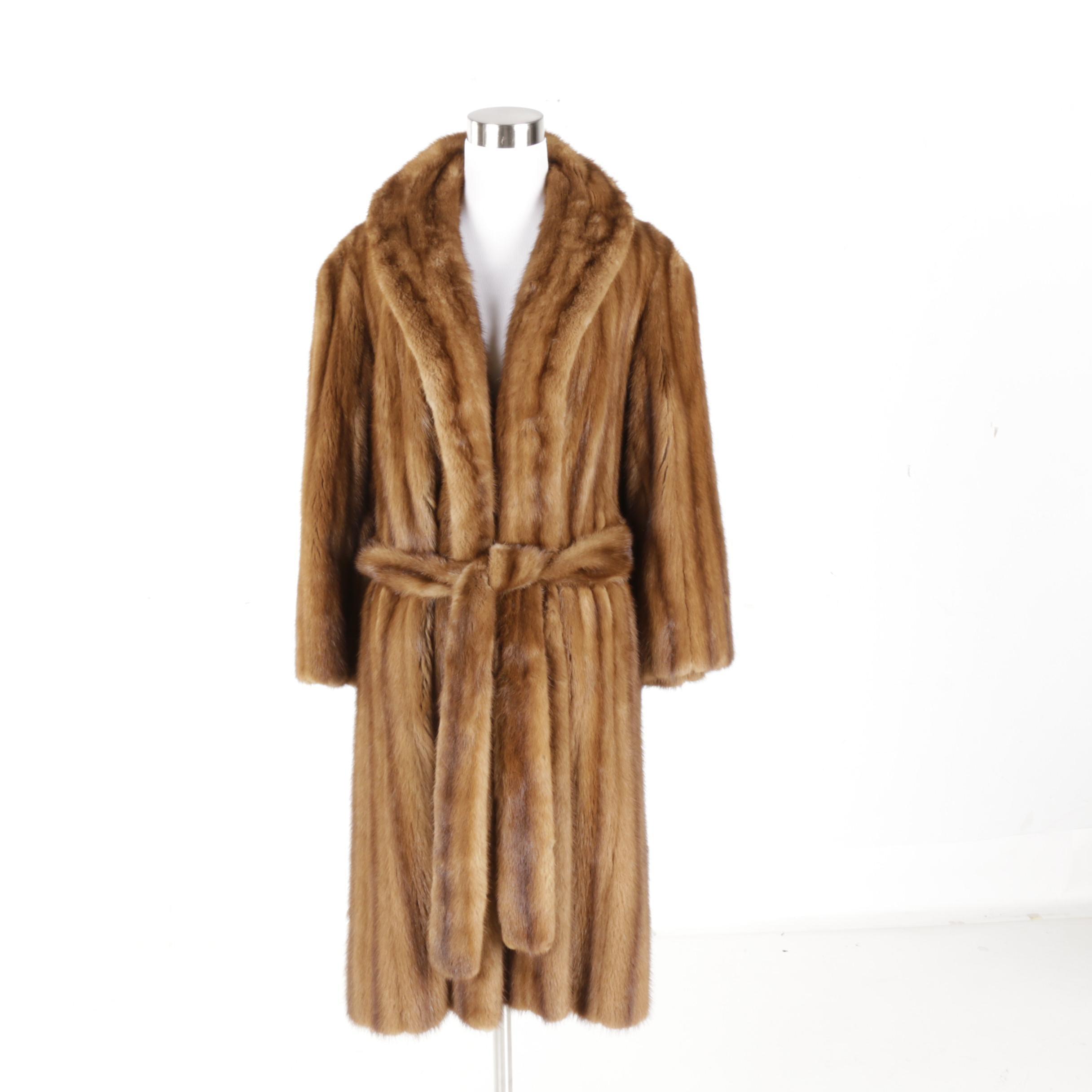 Women's Vintage Brown Mink Fur Coat