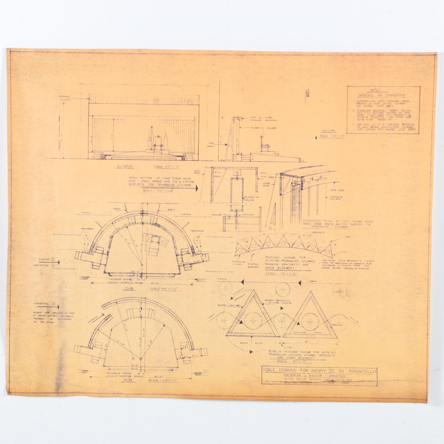Frederick j kiesler blueprint scale drawing for pirandellos henry malvernweather Image collections