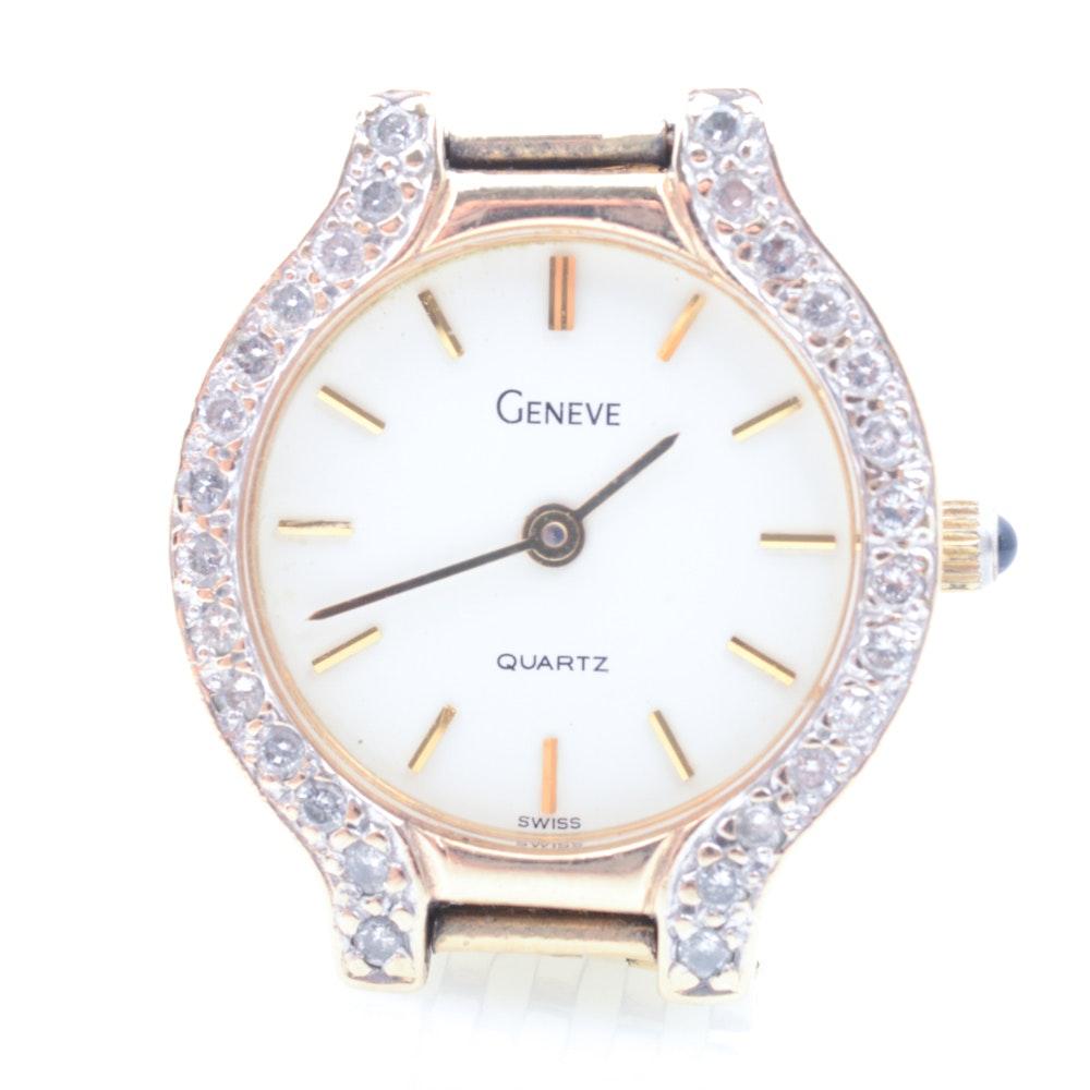 Geneve 14K Yellow Gold Diamond Wristwatch
