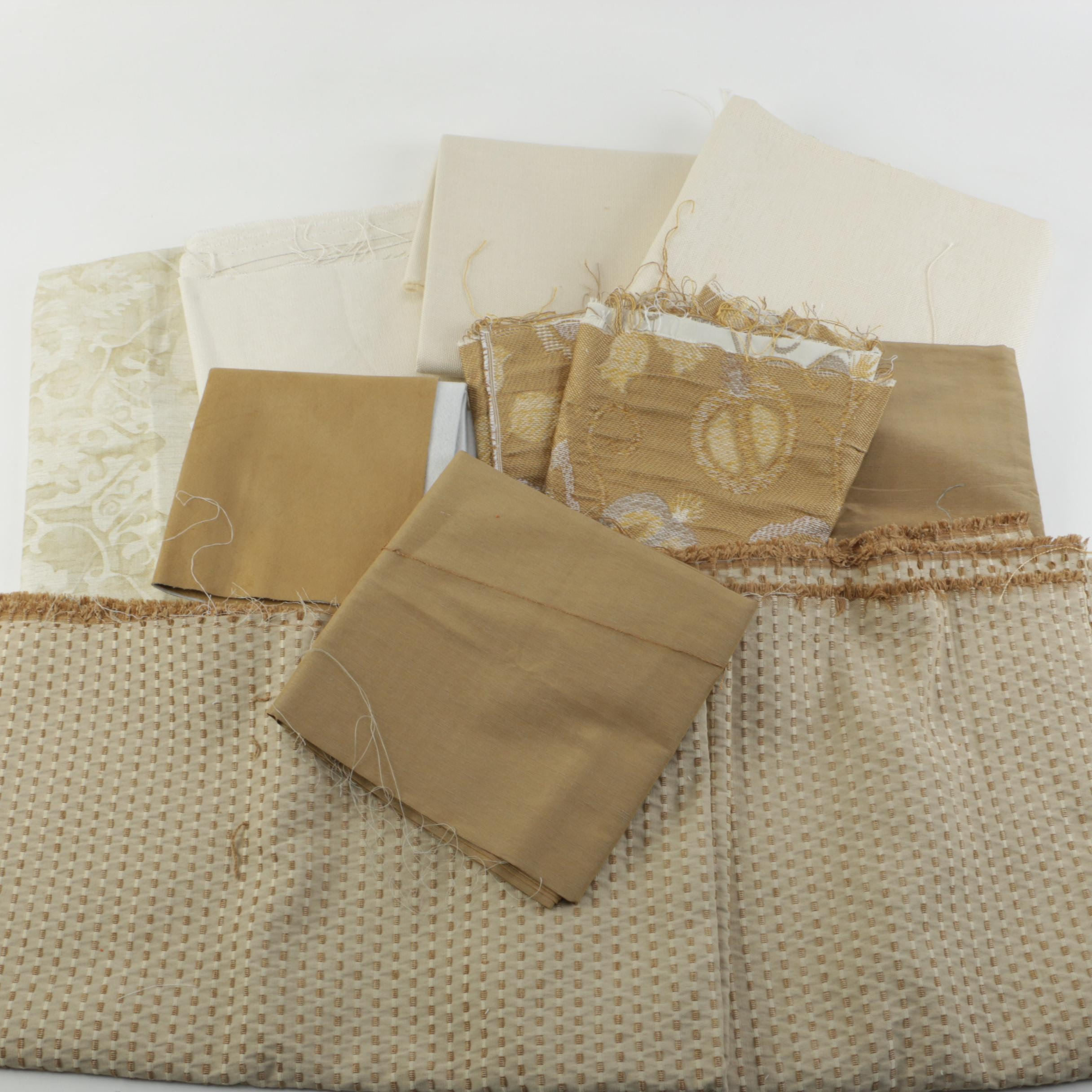 Neutral Toned Fabric Samples