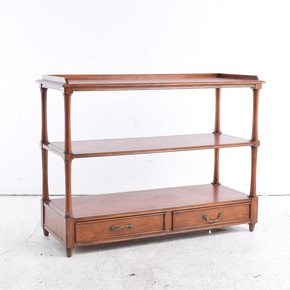 Walnut Stained Console Shelves / Server