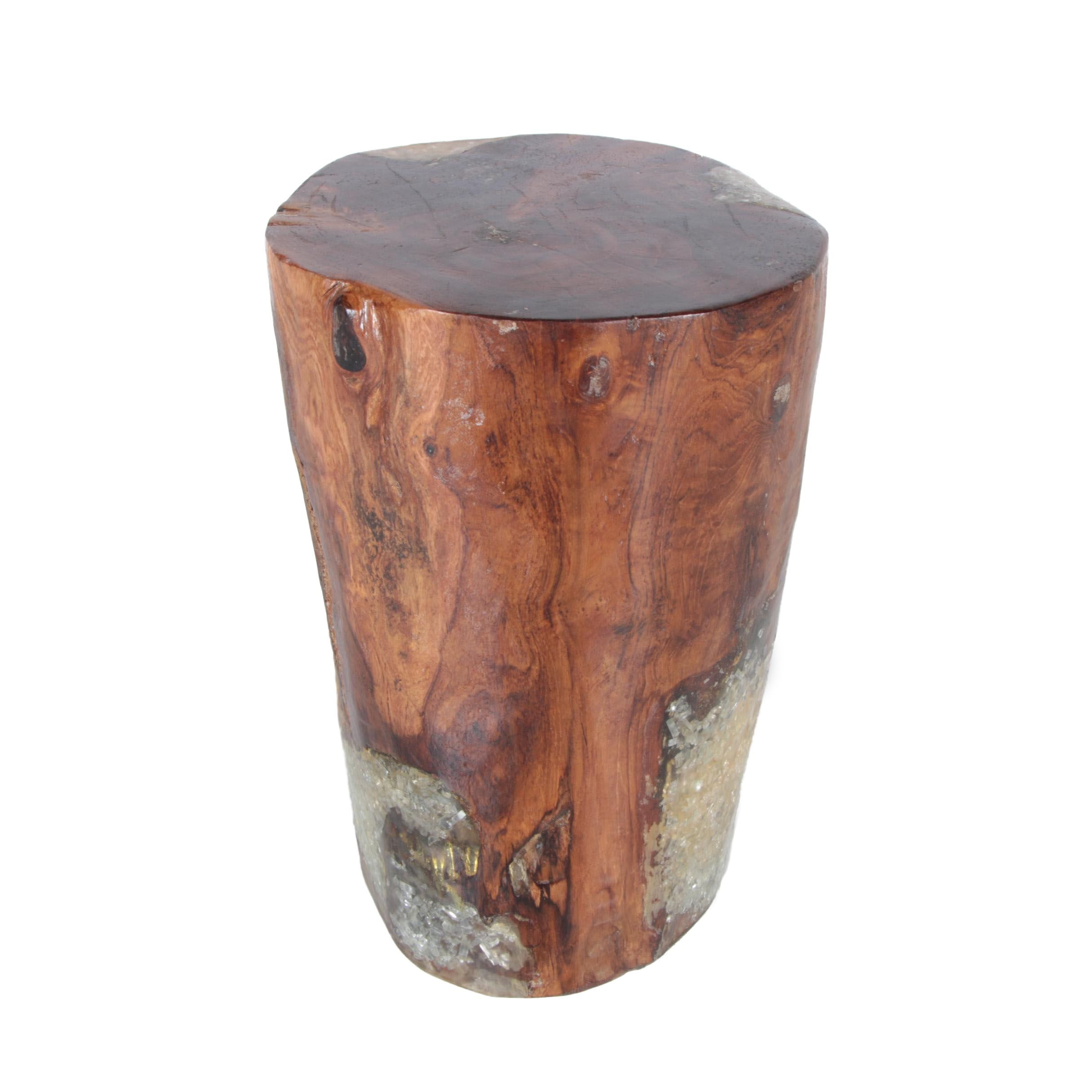 Stump and Resin Accent Table