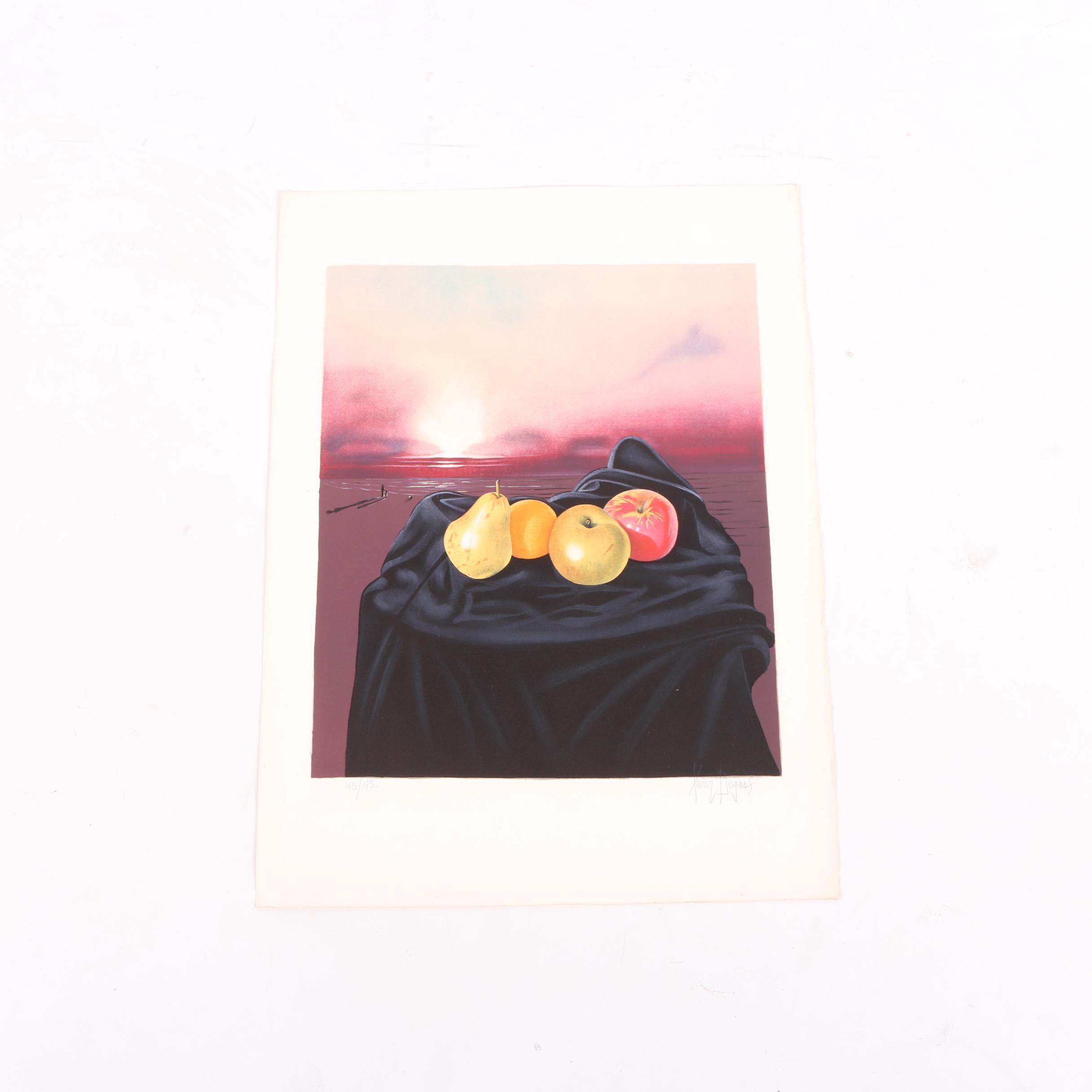 Xavier Degauf Limited Edition Serigraph Print of a Still Life