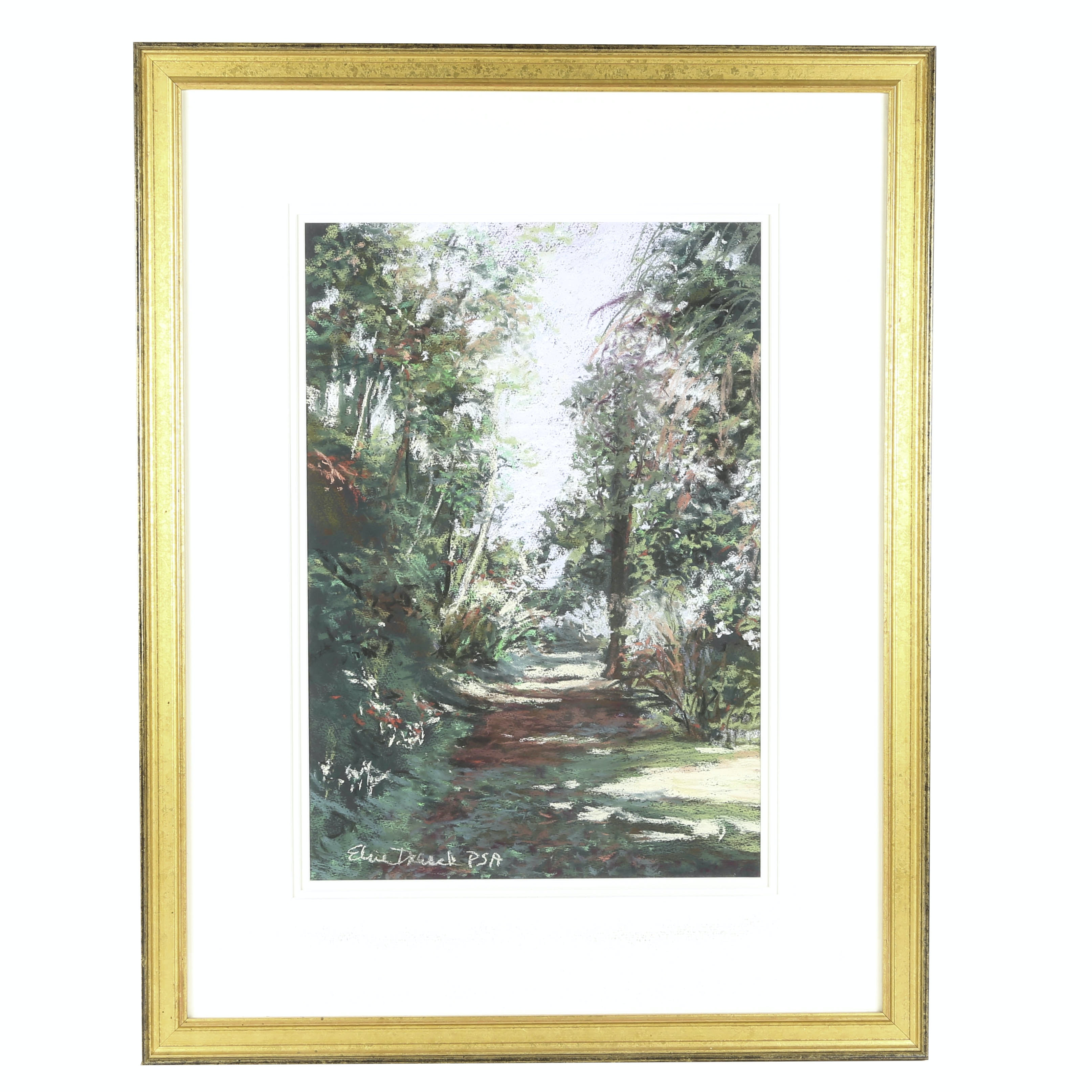Elsie Dresch Oil Pastel on Paper, Untitled