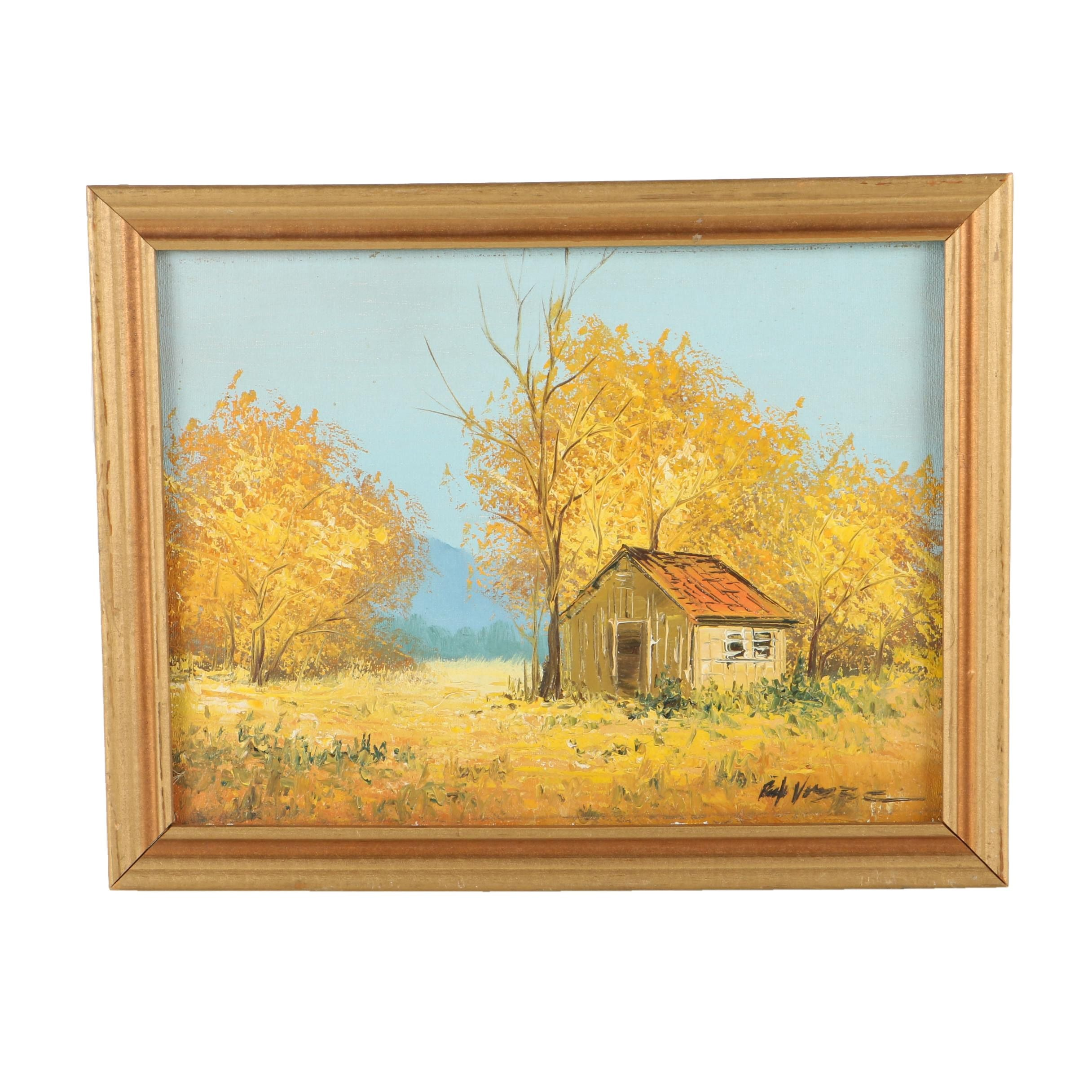 Signed Oil on Canvas of a Fall Landscape