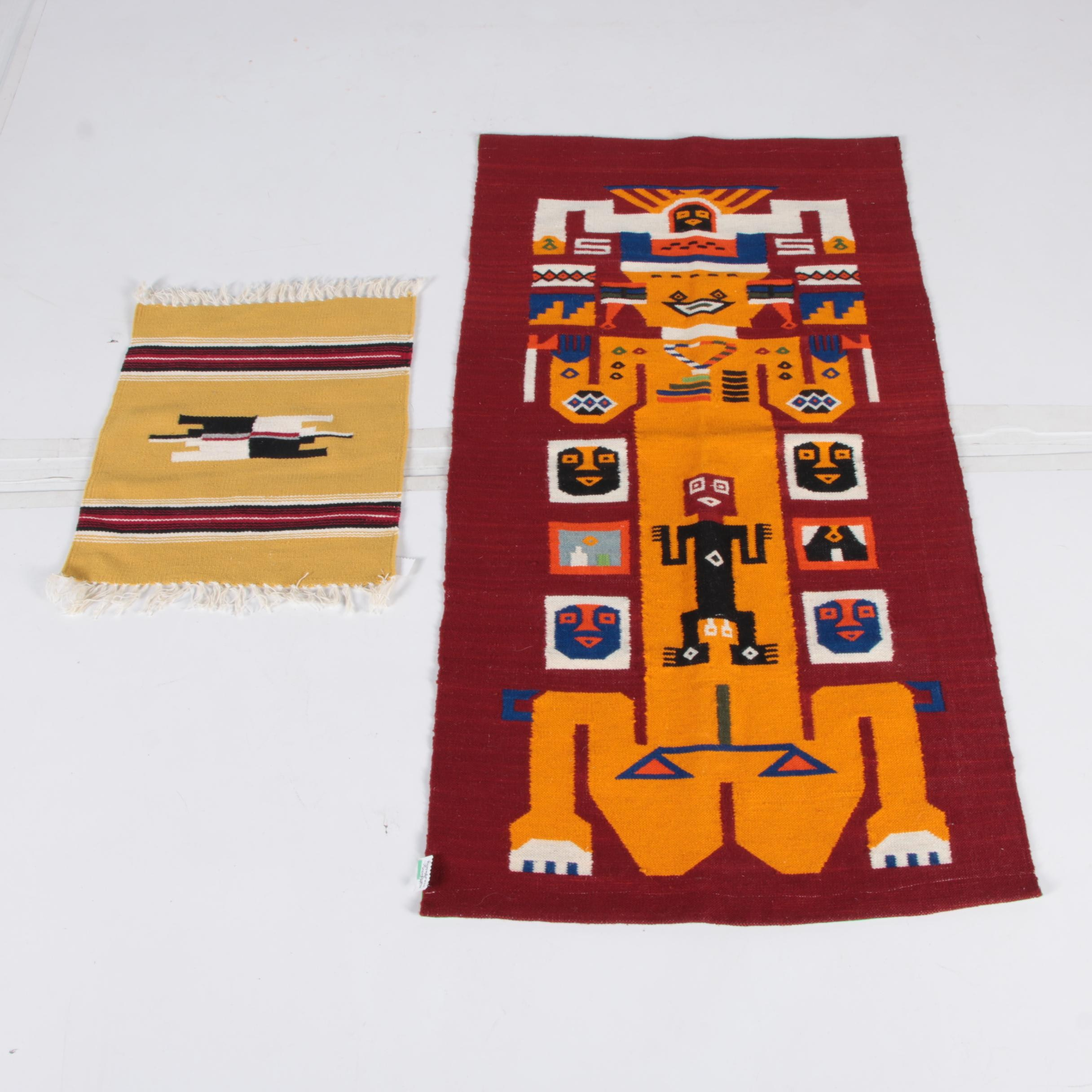 Handwoven Mexican and South American Style Wool Textiles