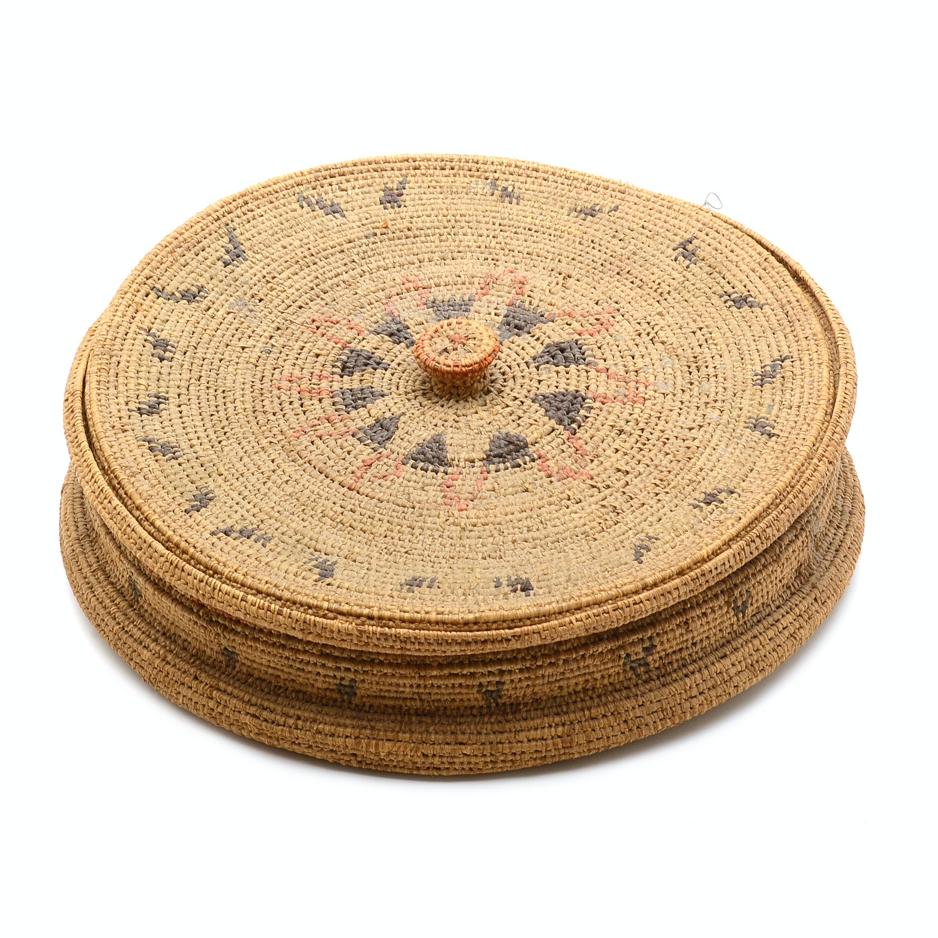 Vintage Mexican-Style Tortilla Warming Woven Basket