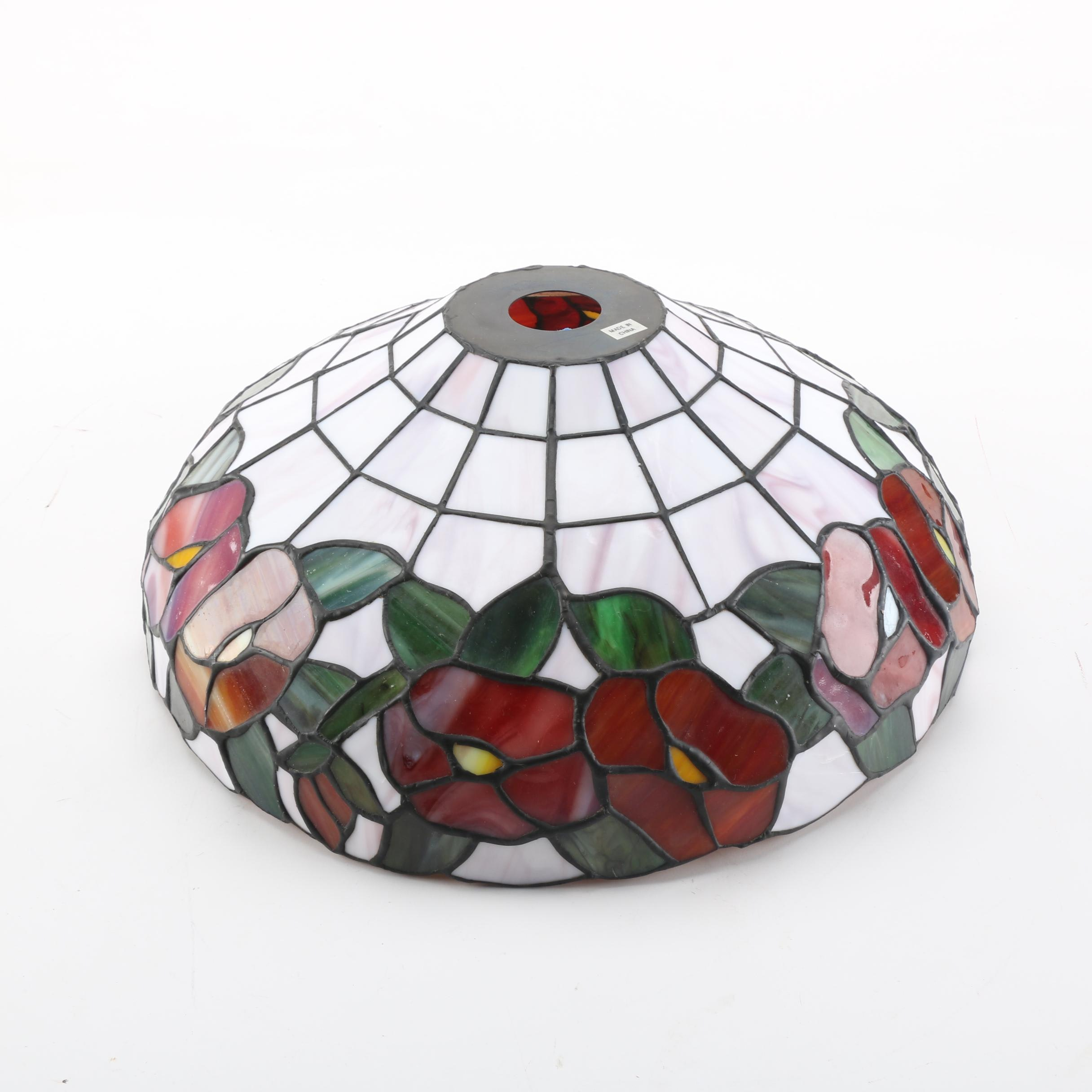 Stained Glass Floral Motif Lampshade